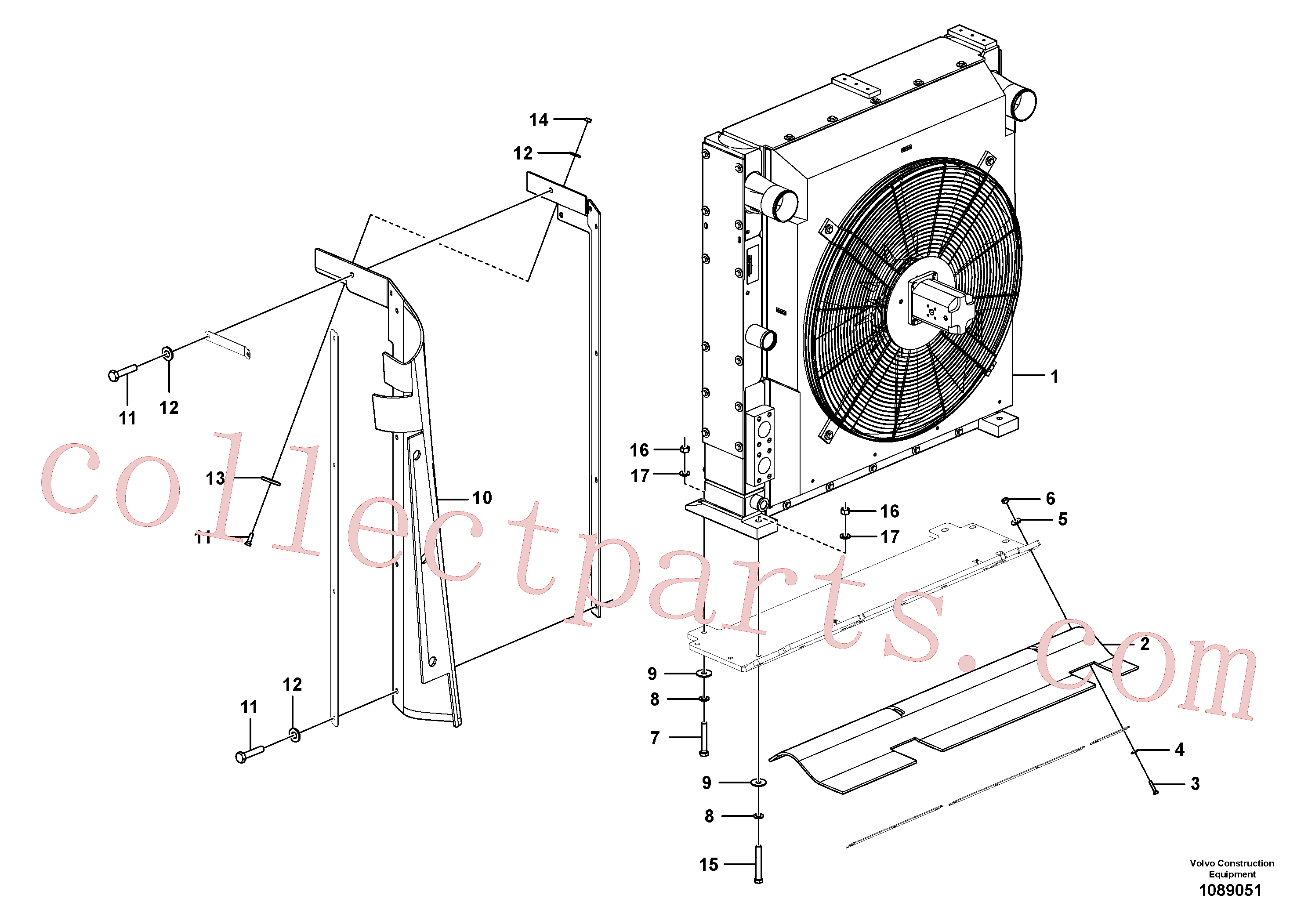 RM96722152 for Volvo Cooling system(1089051 assembly)
