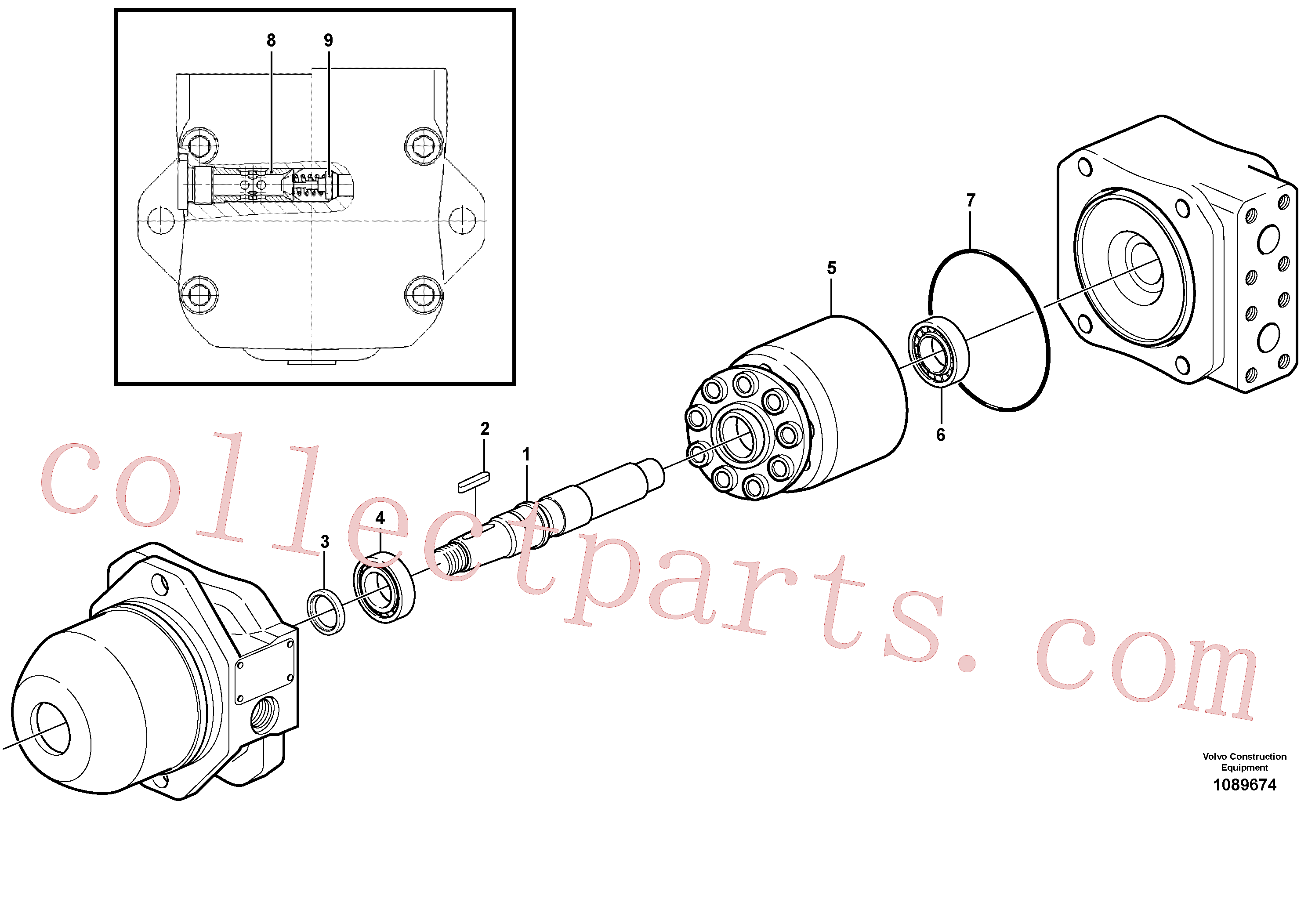 VOE11998855 for Volvo Hydraulic motor.(1089674 assembly)