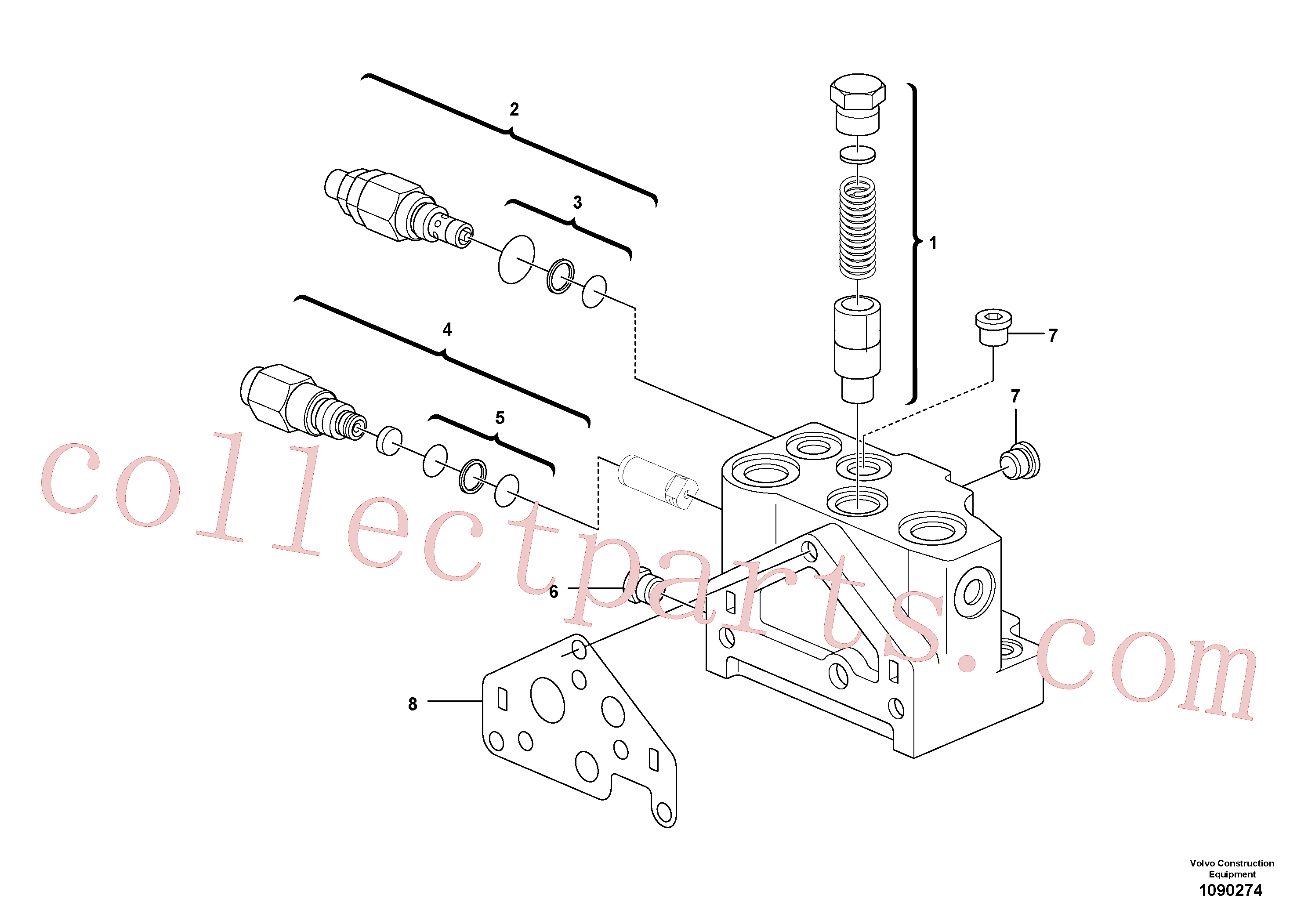 VOE11802877 for Volvo Valve section(1090274 assembly)