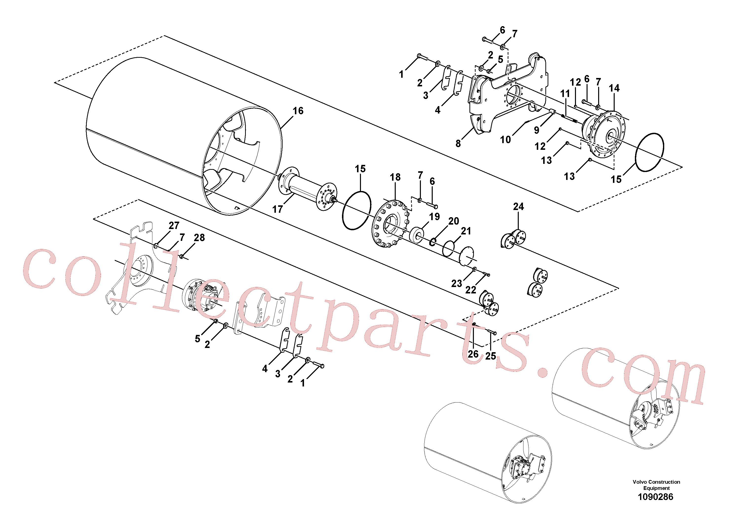 RM96738646 for Volvo Drum Assembly(1090286 assembly)