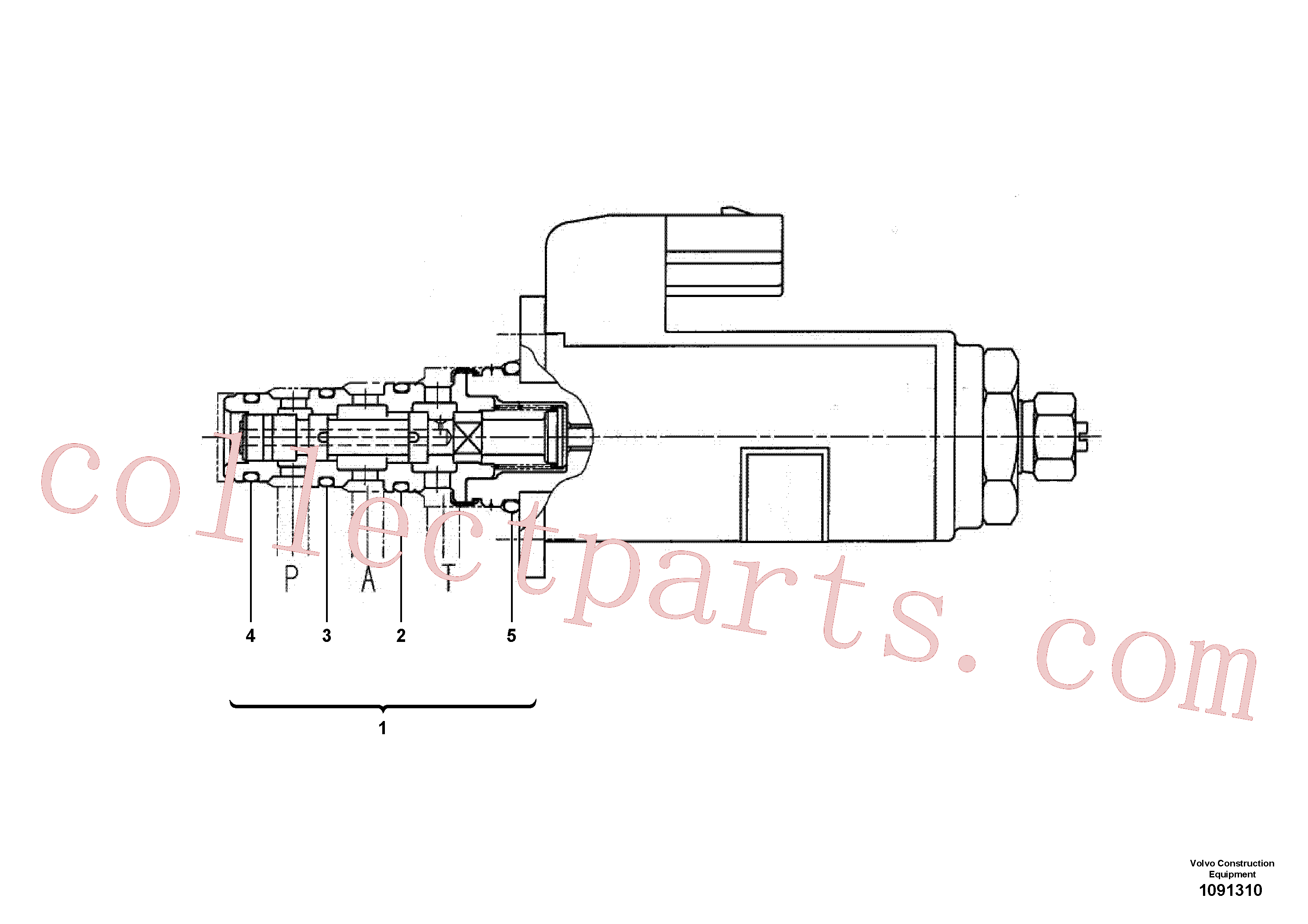 SA9511-12020 for Volvo Proportional valve(1091310 assembly)