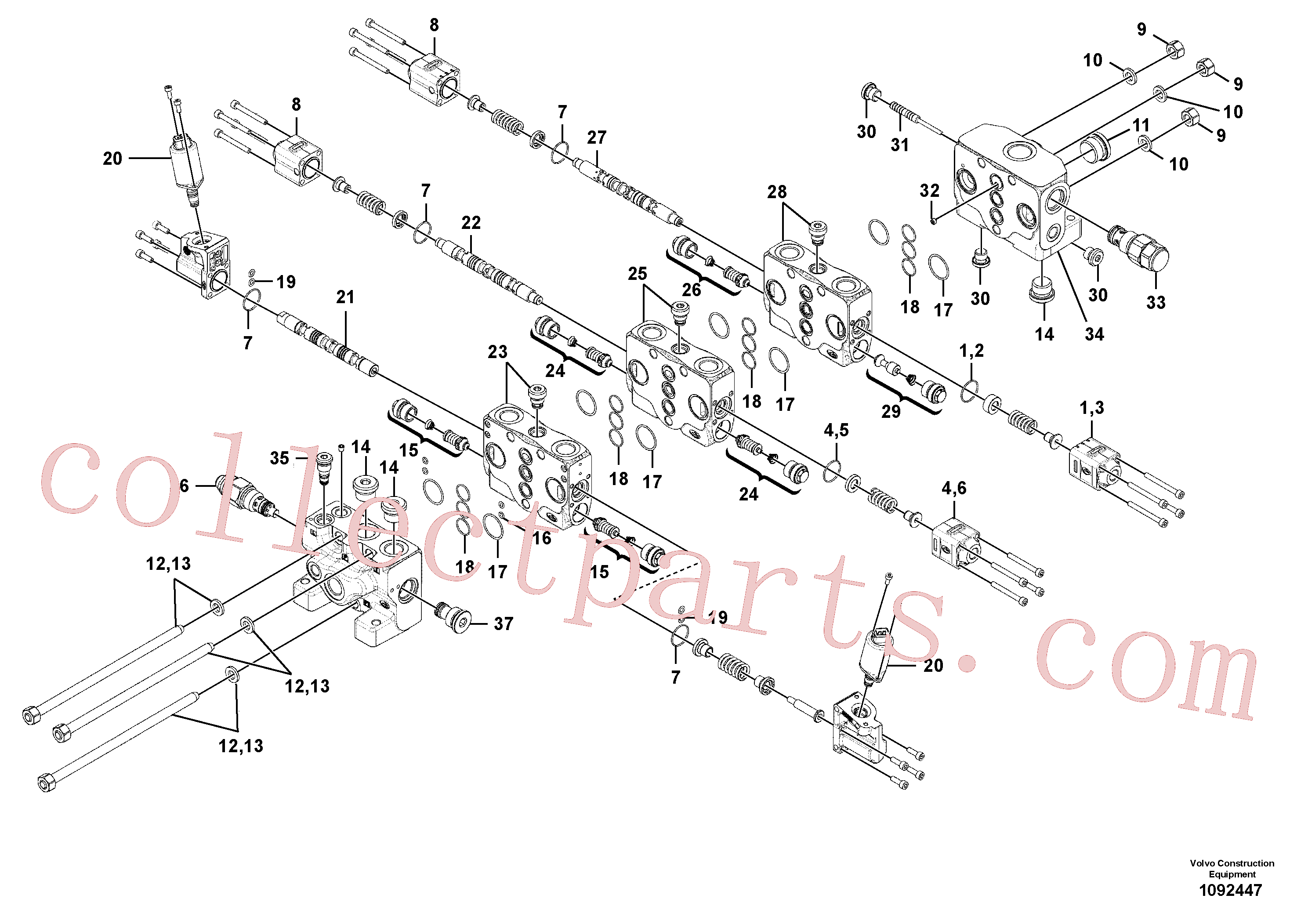 VOE11370325 for Volvo Valve(1092447 assembly)