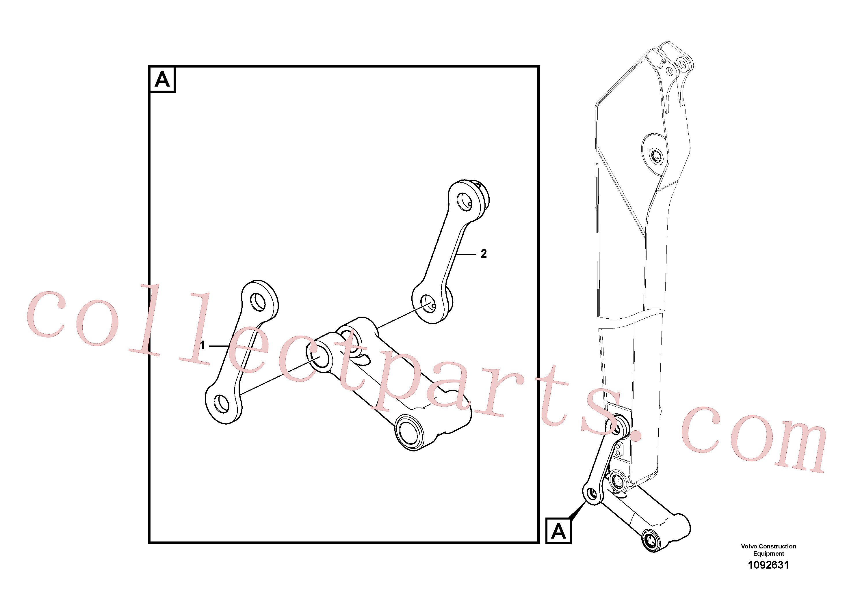 VOE14550744 for Volvo Links to connecting rod(1092631 assembly)
