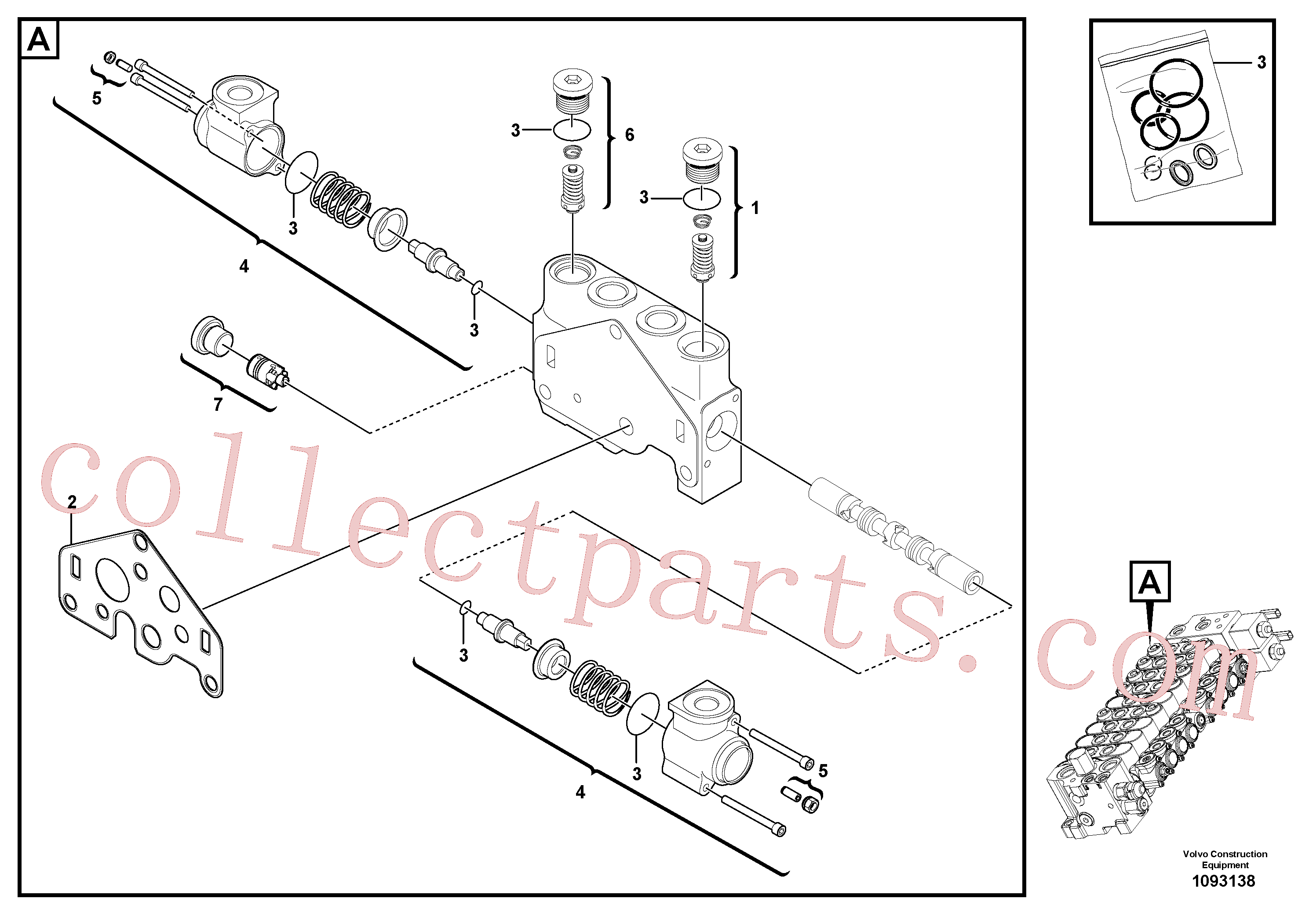 VOE11710929 for Volvo Valve section(1093138 assembly)