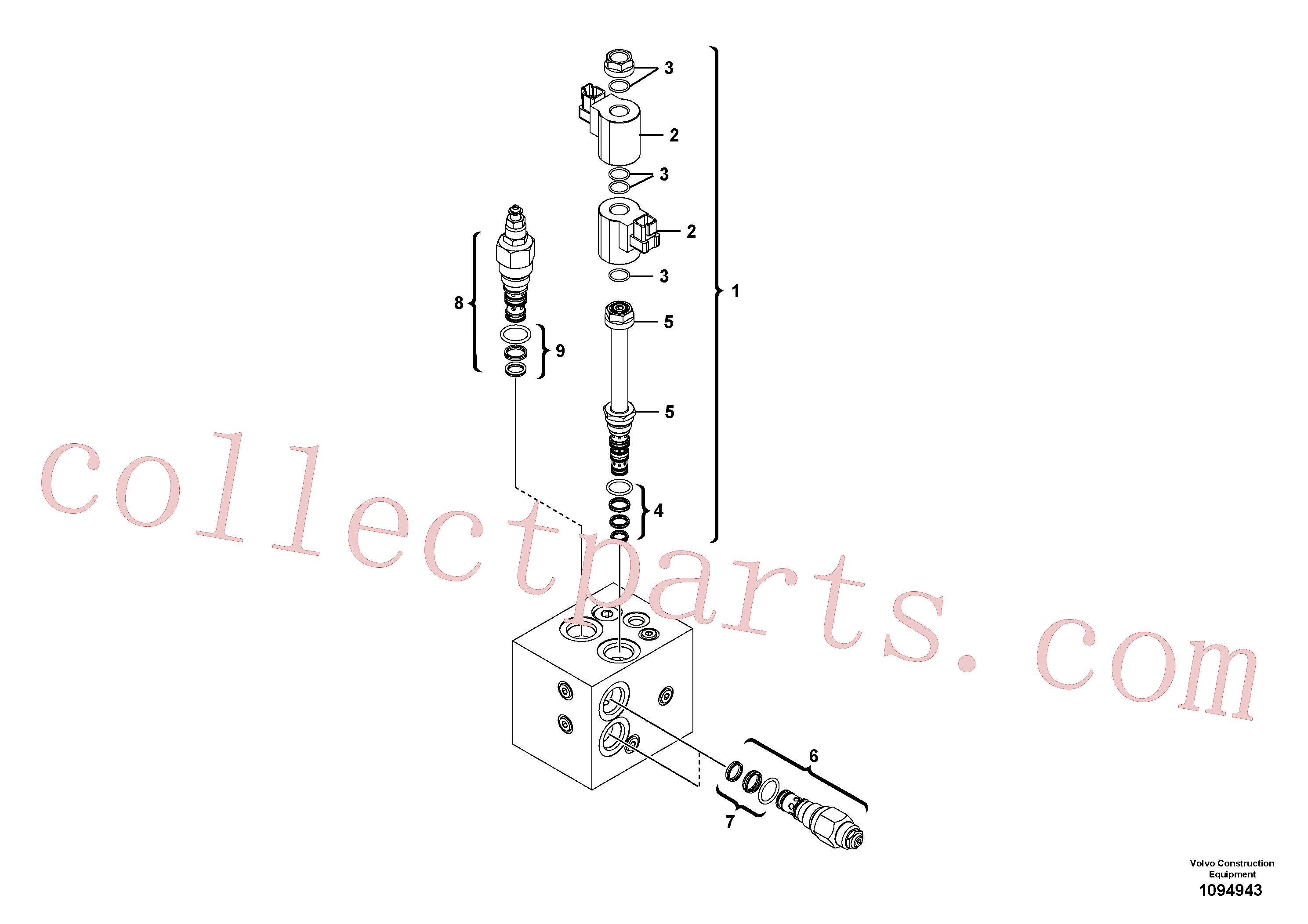 VOE17218557 for Volvo Valve(1094943 assembly)