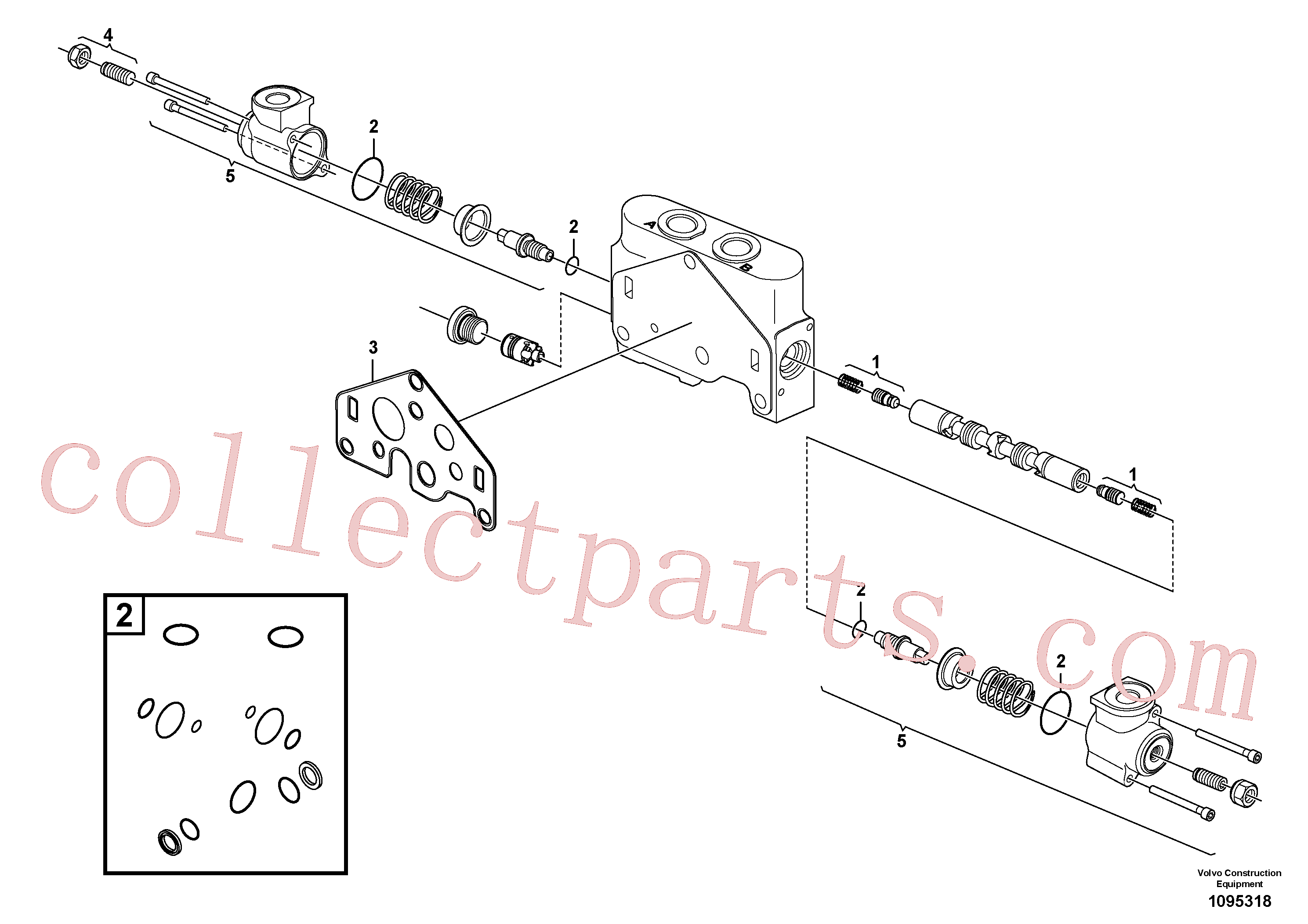VOE11710929 for Volvo Valve section(1095318 assembly)