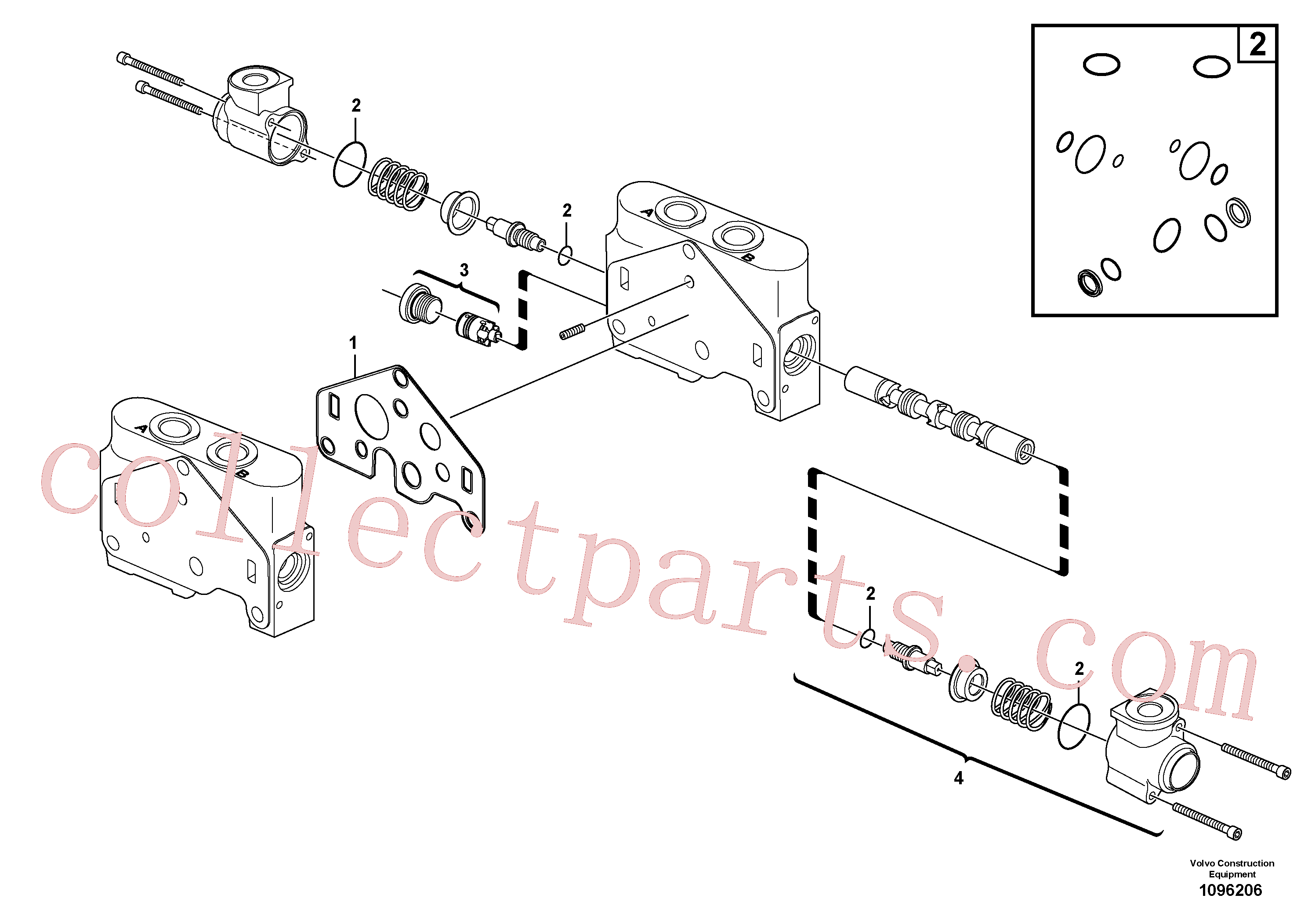 VOE11710921 for Volvo Valve section(1096206 assembly)
