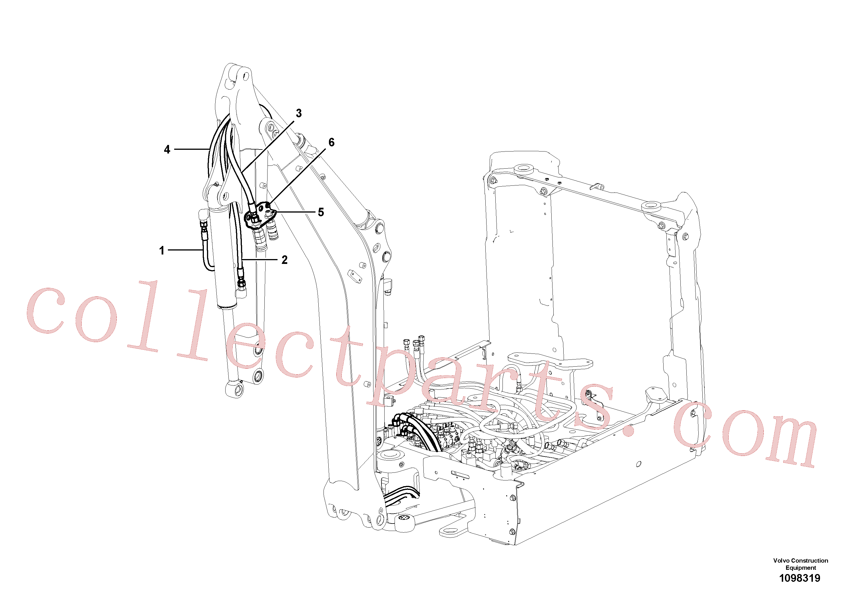 VOE15800993 for Volvo Hydraulic equipment(1098319 assembly)