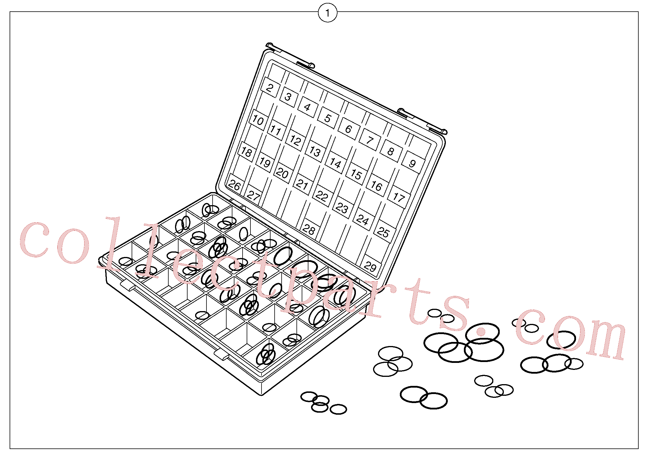 PJ5960147 for Volvo Seals suitcase for union , elbow , fitting ...(110Y1 assembly)