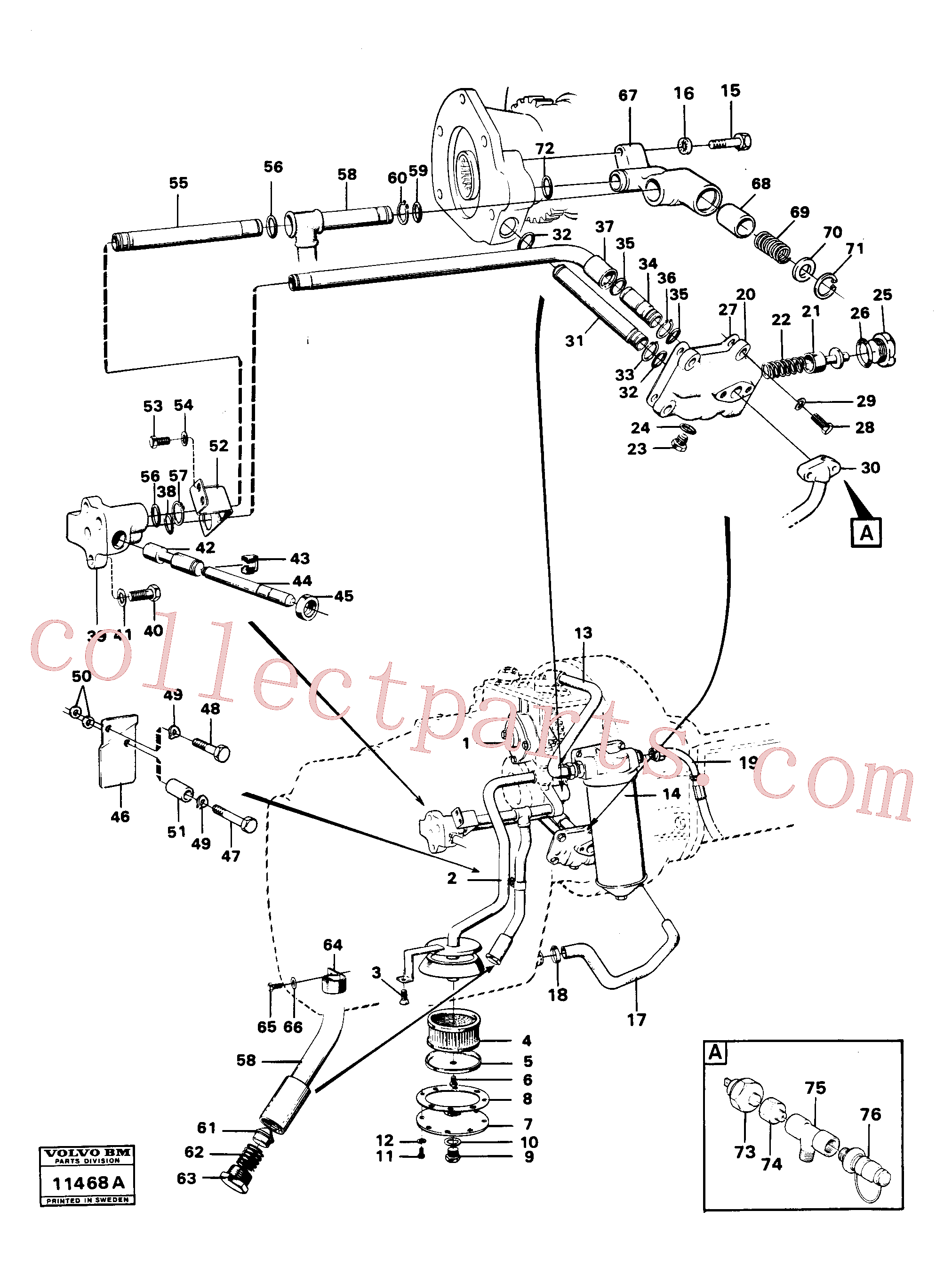 VOE14014864 for Volvo Hydraulic lines and valve(11468A assembly)