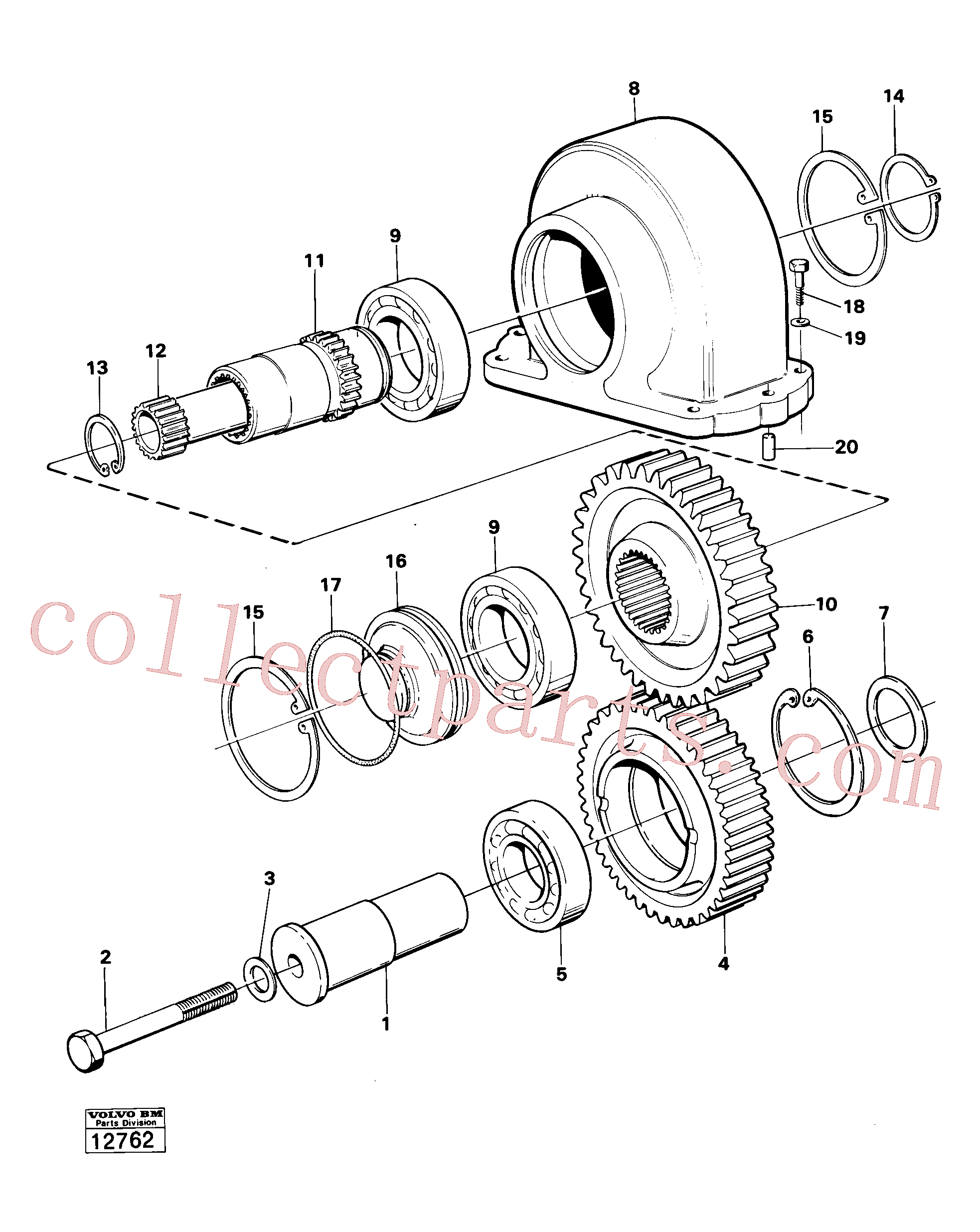 VOE4871523 for Volvo Charging oil-pump drive prod no 30804(12762 assembly)