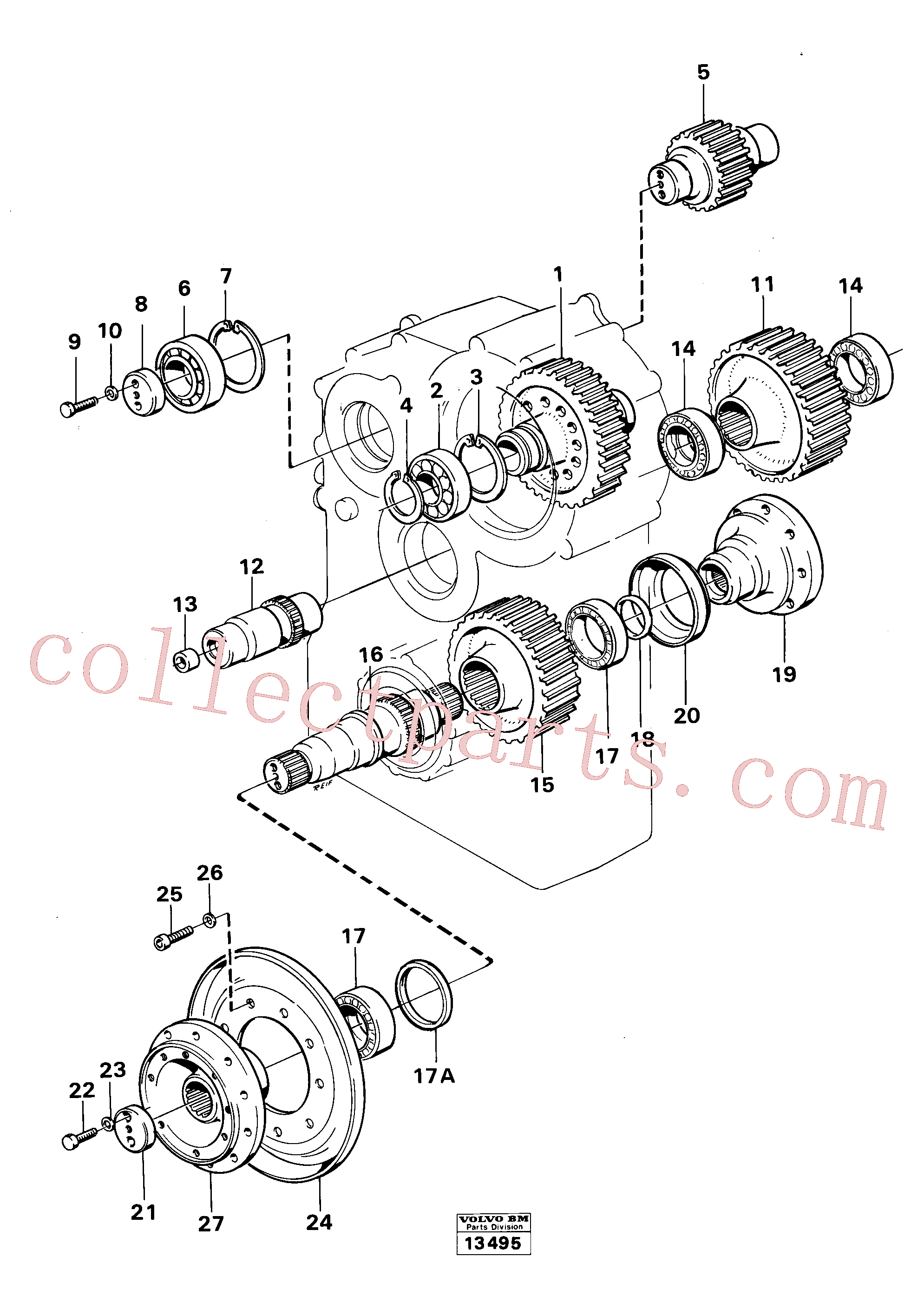 VOE914548 for Volvo Dropbox gears and shafts(13495 assembly)