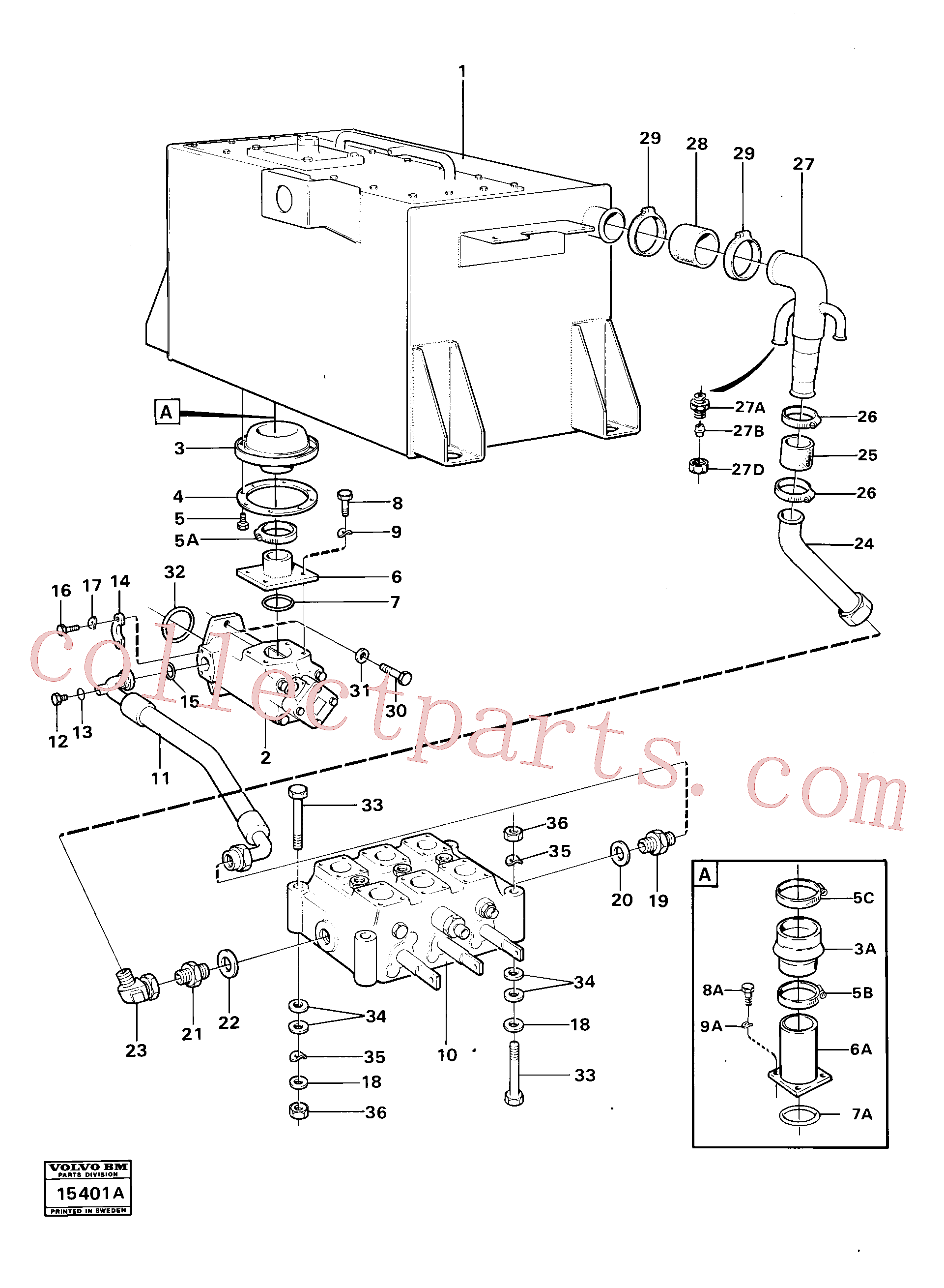 VOE14014632 for Volvo Feed lines(15401A assembly)