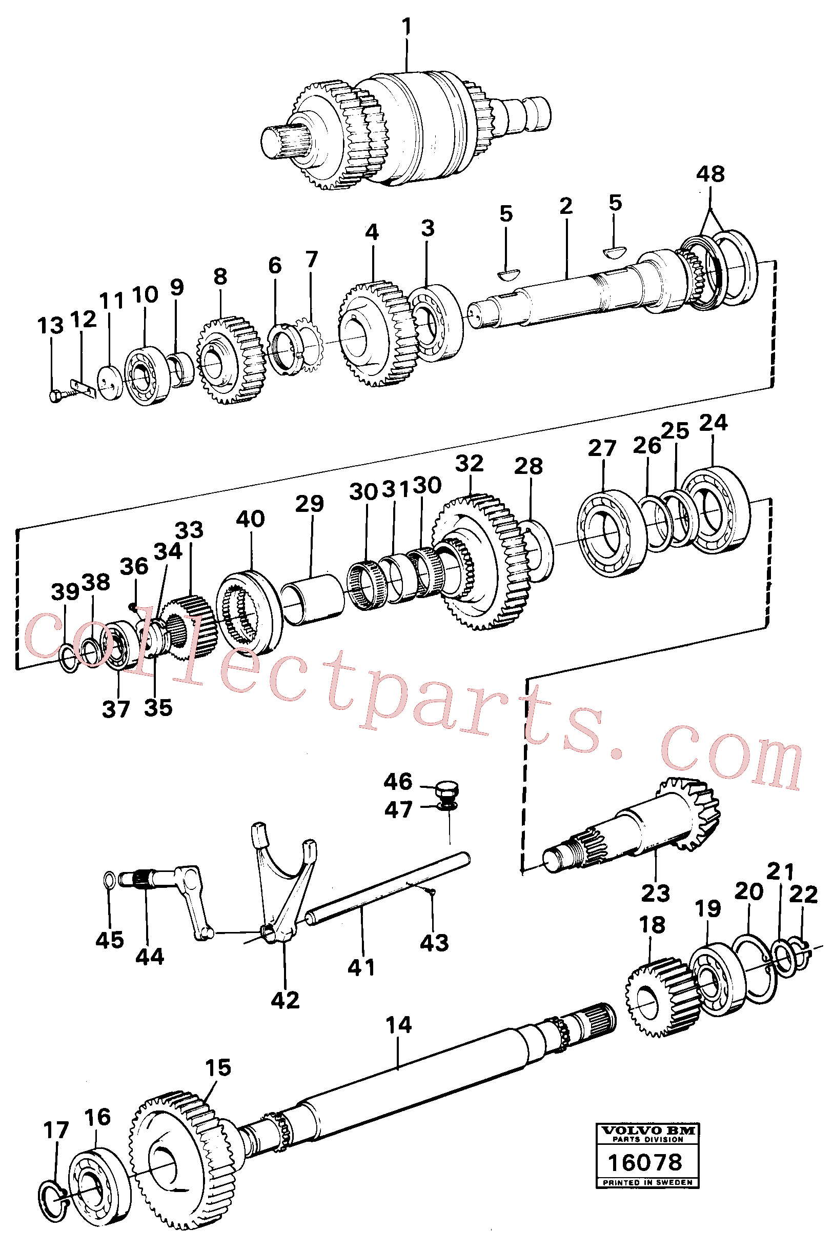 ZM7094911 for Volvo Clutches,gears and shafts(16078 assembly)