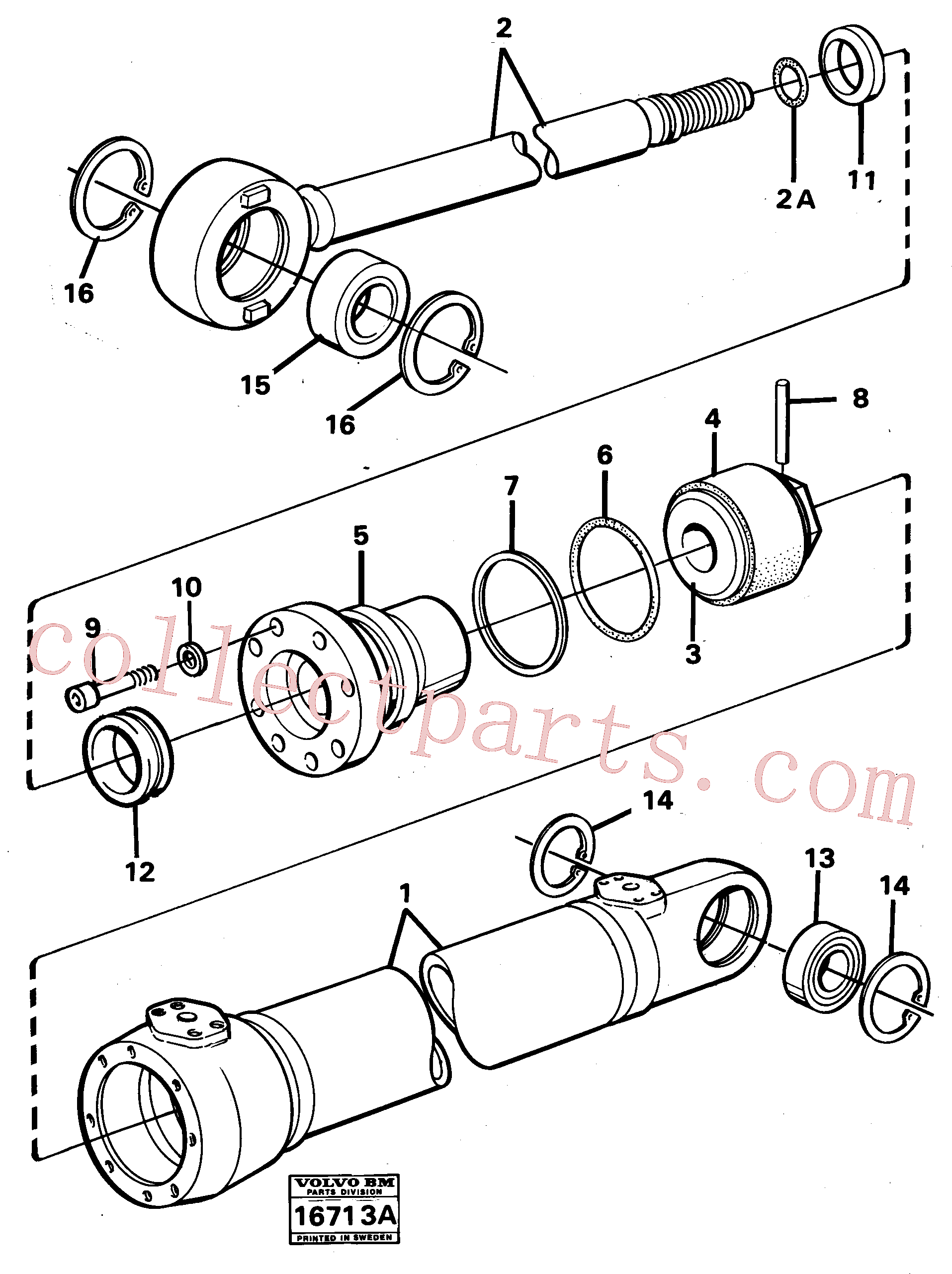 VOE13960227 for Volvo Hydraulic cylinder(16713A assembly)