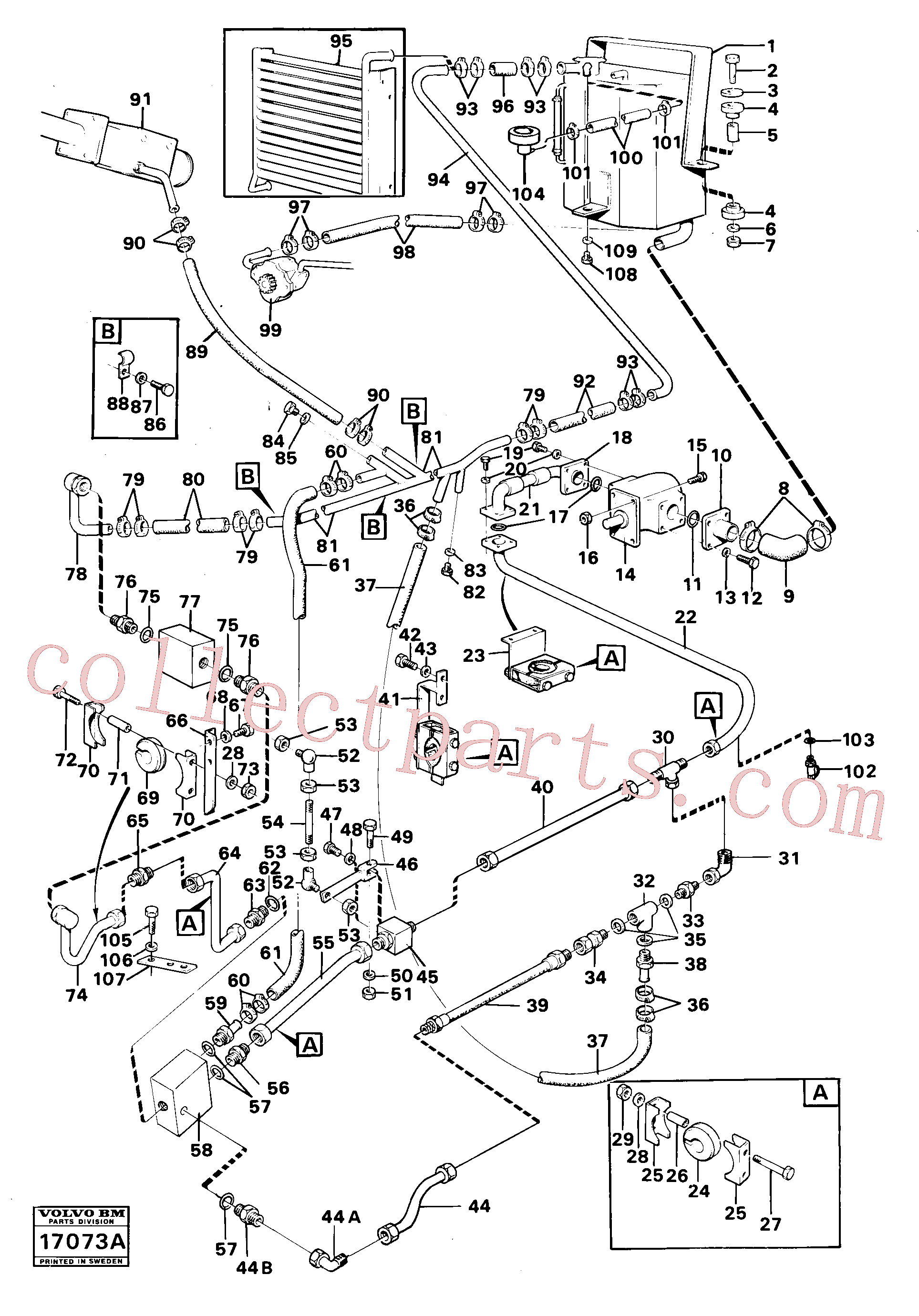 VOE11998170 for Volvo Hydraulic system(17073A assembly)