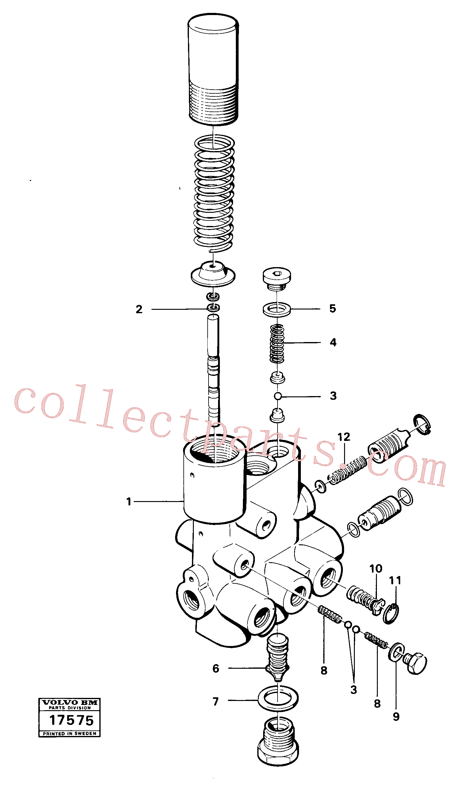 VOE7480178 for Volvo Valve section(17575 assembly)