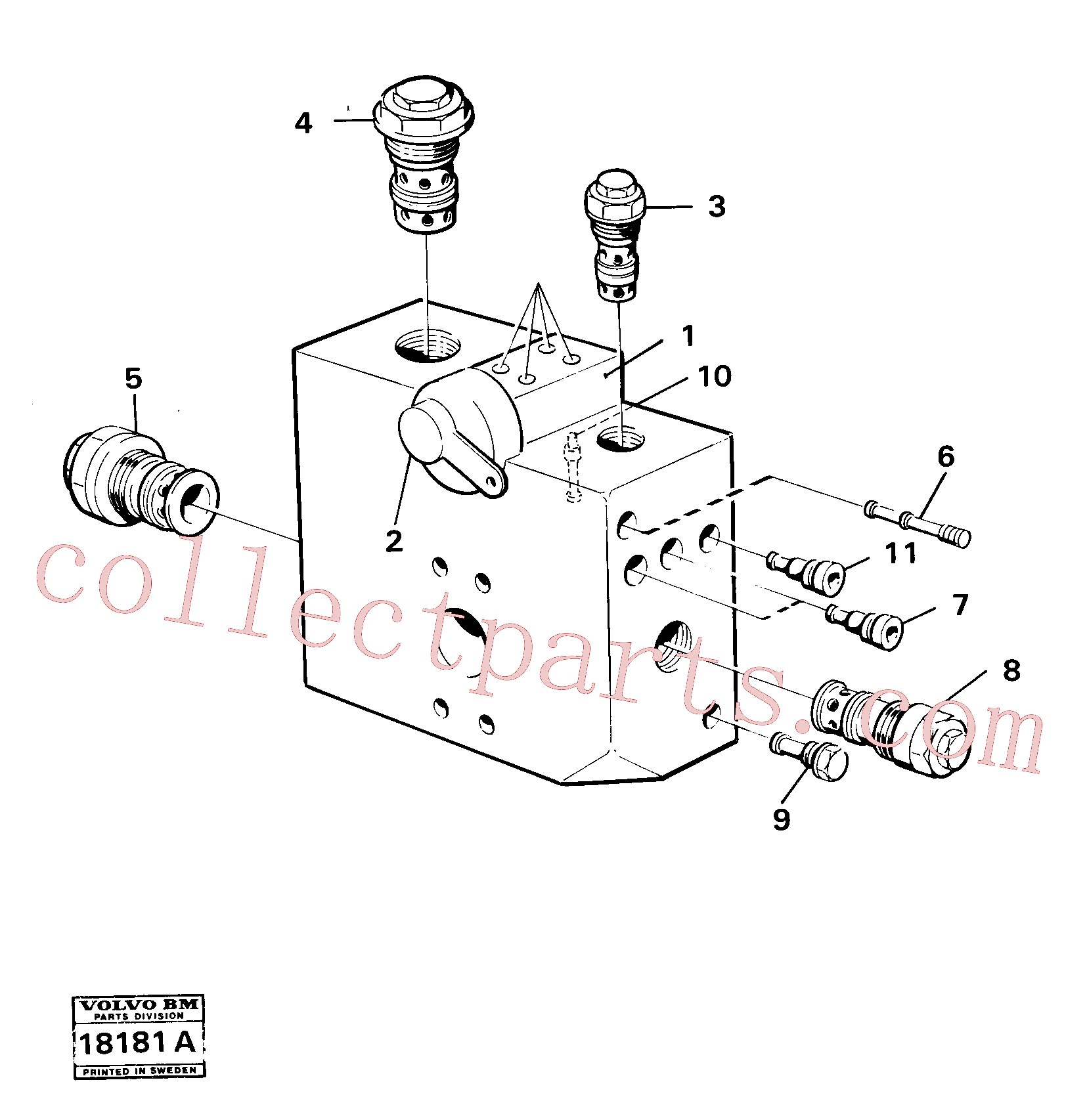 VOE4881693 for Volvo Tipping valve., Tipping valve 4 x 4 Tillv Nr - 4066(18181A assembly)