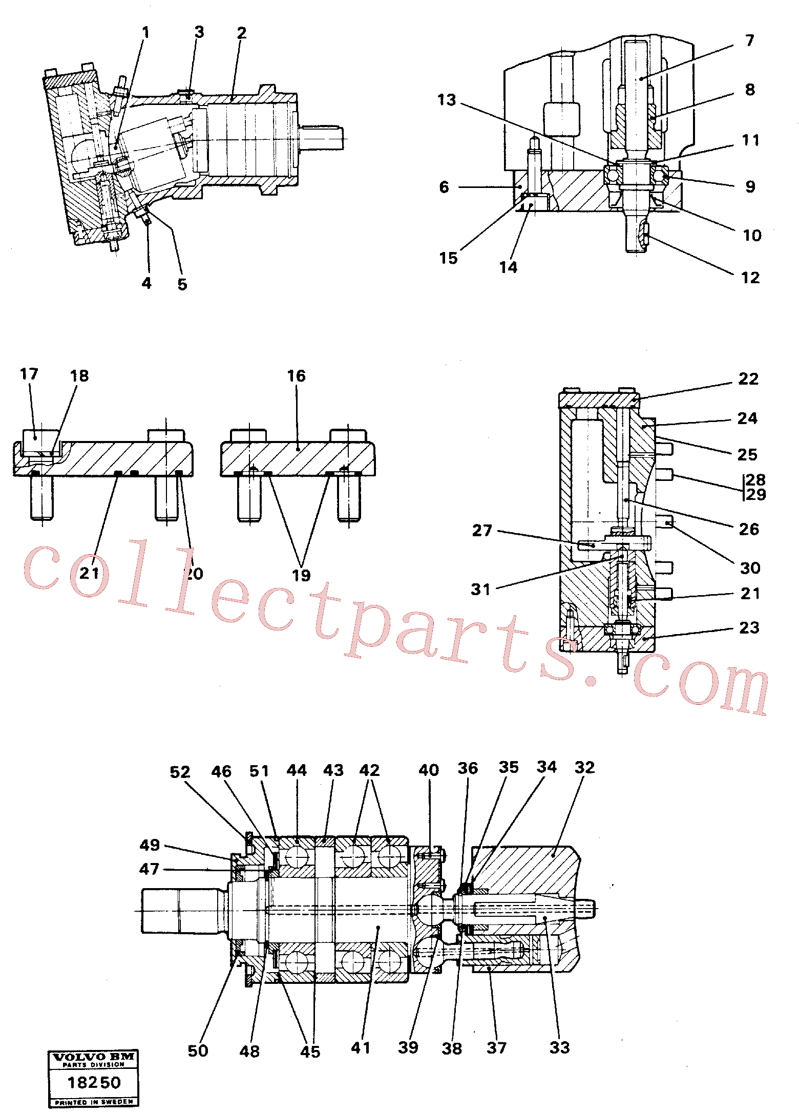 VOE11702191 for Volvo Hydraulic pump(18250 assembly)