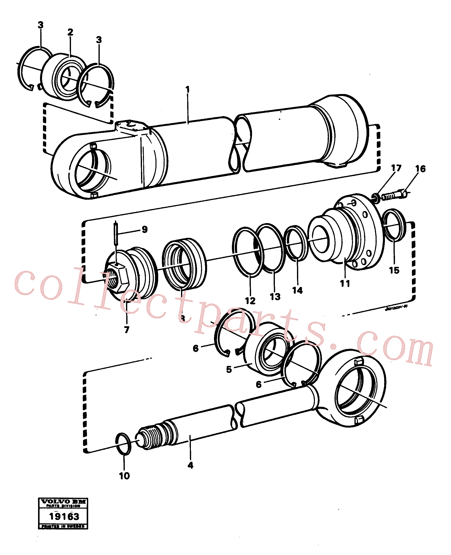 VOE11005198 for Volvo Hydraulic cylinder lifting(19163 assembly)