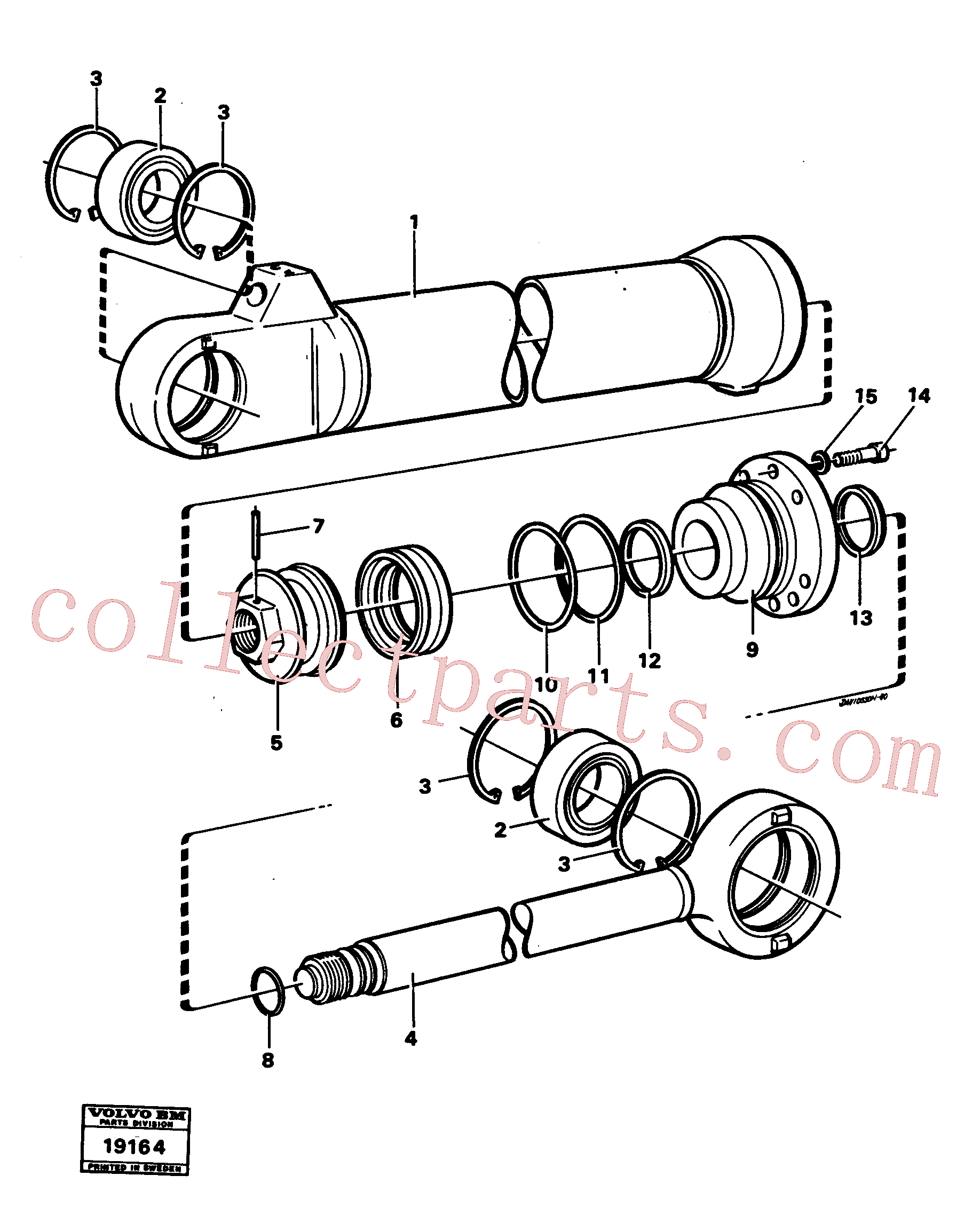 VOE11005200 for Volvo Hydraulic cylinder tilting(19164 assembly)