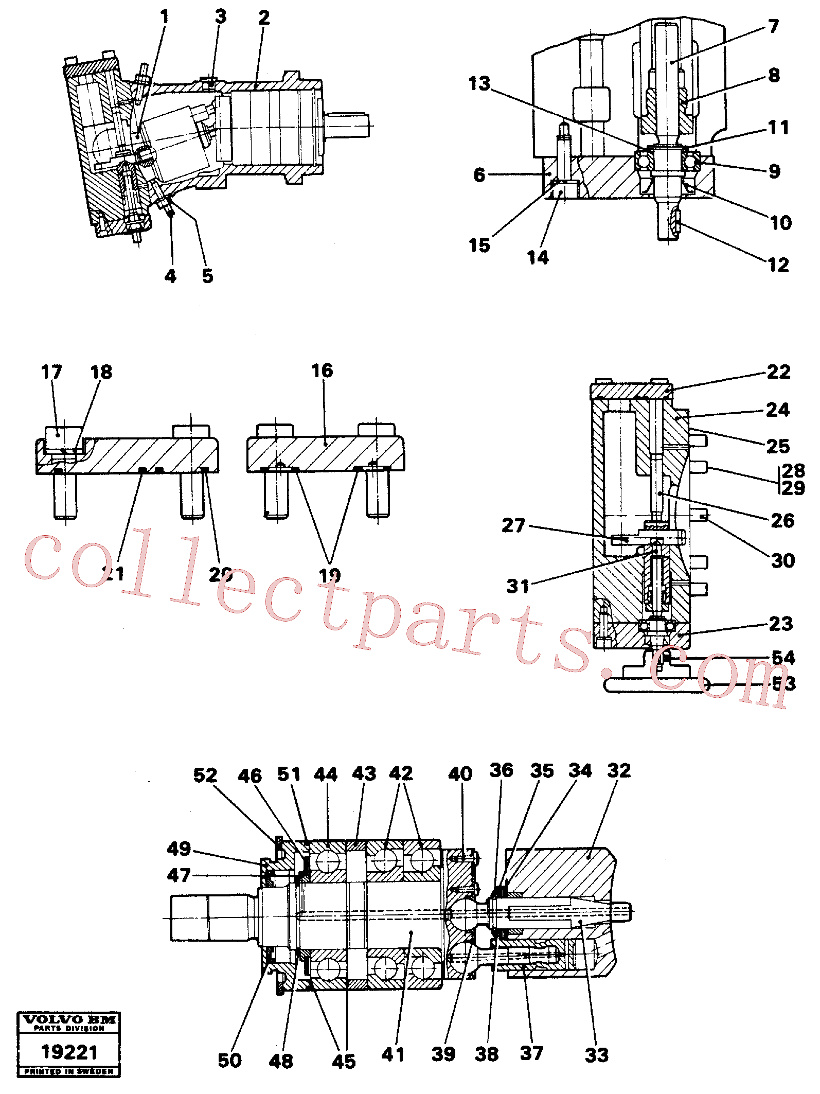 VOE11702191 for Volvo Hydraulic pump(19221 assembly)