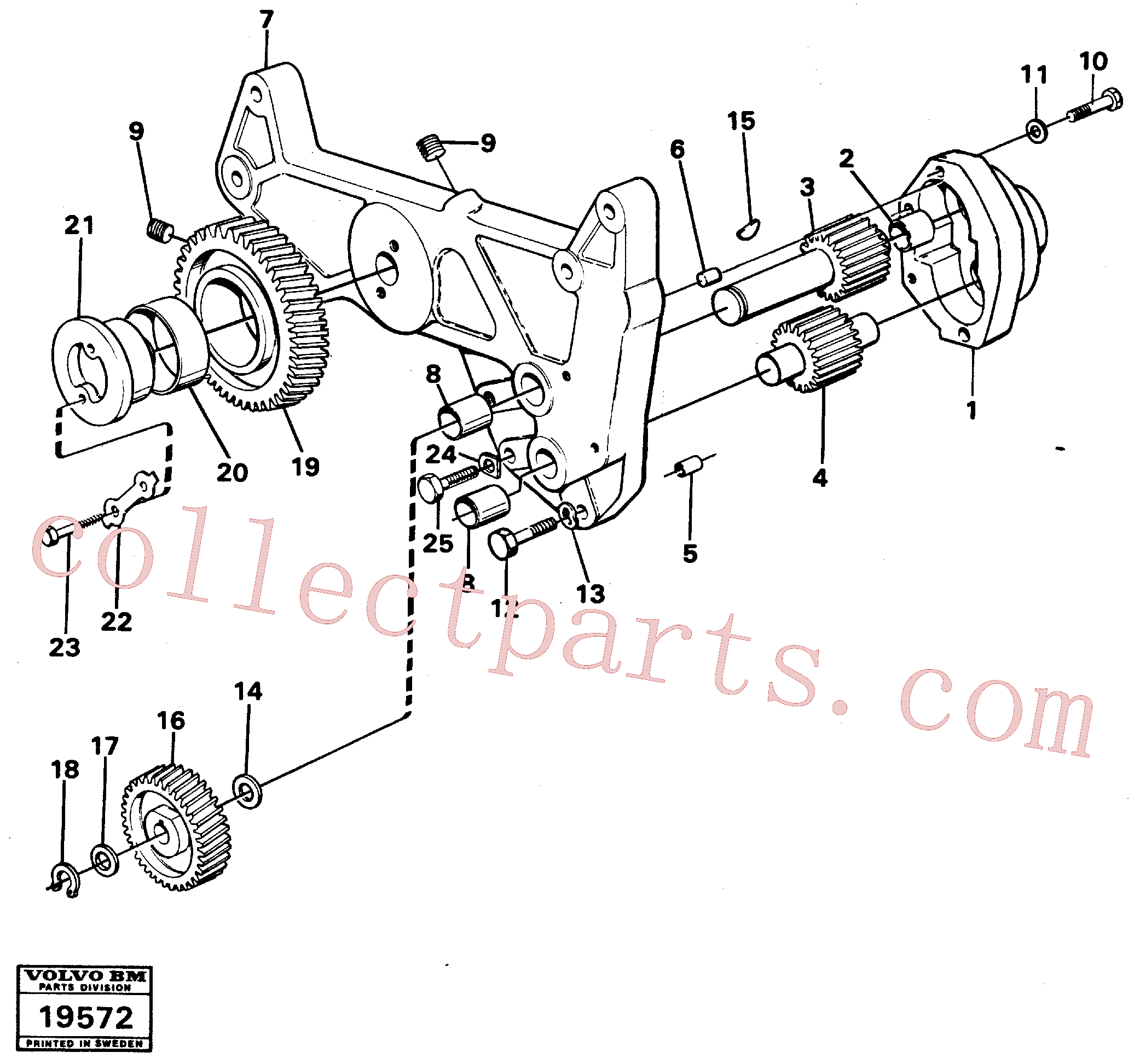 VOE14014870 for Volvo Oil pump(19572 assembly)
