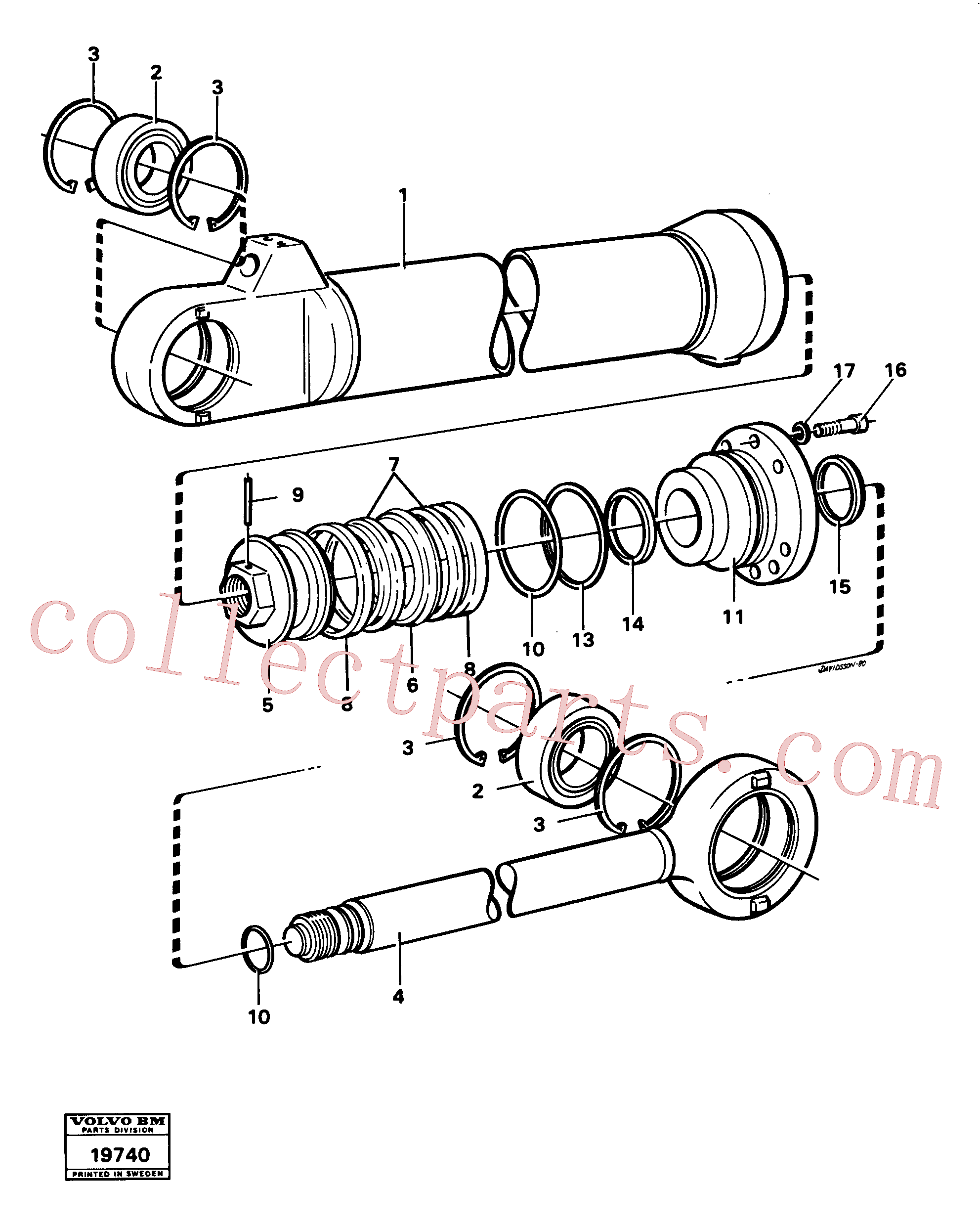 VOE4833023 for Volvo Hydraulic cylinder tilting(19740 assembly)