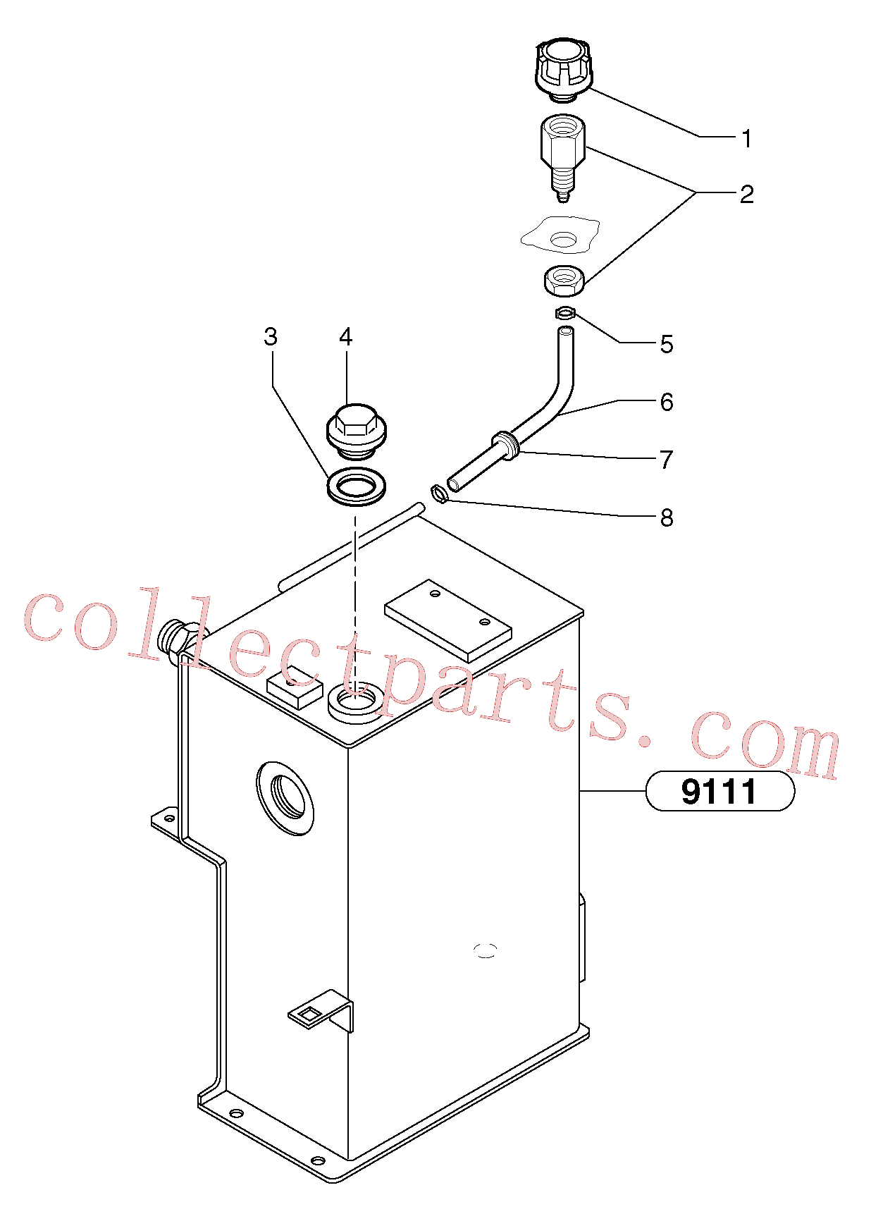 VOE11806174 for Volvo Lubrication oil filler and breather(9115X1 assembly)