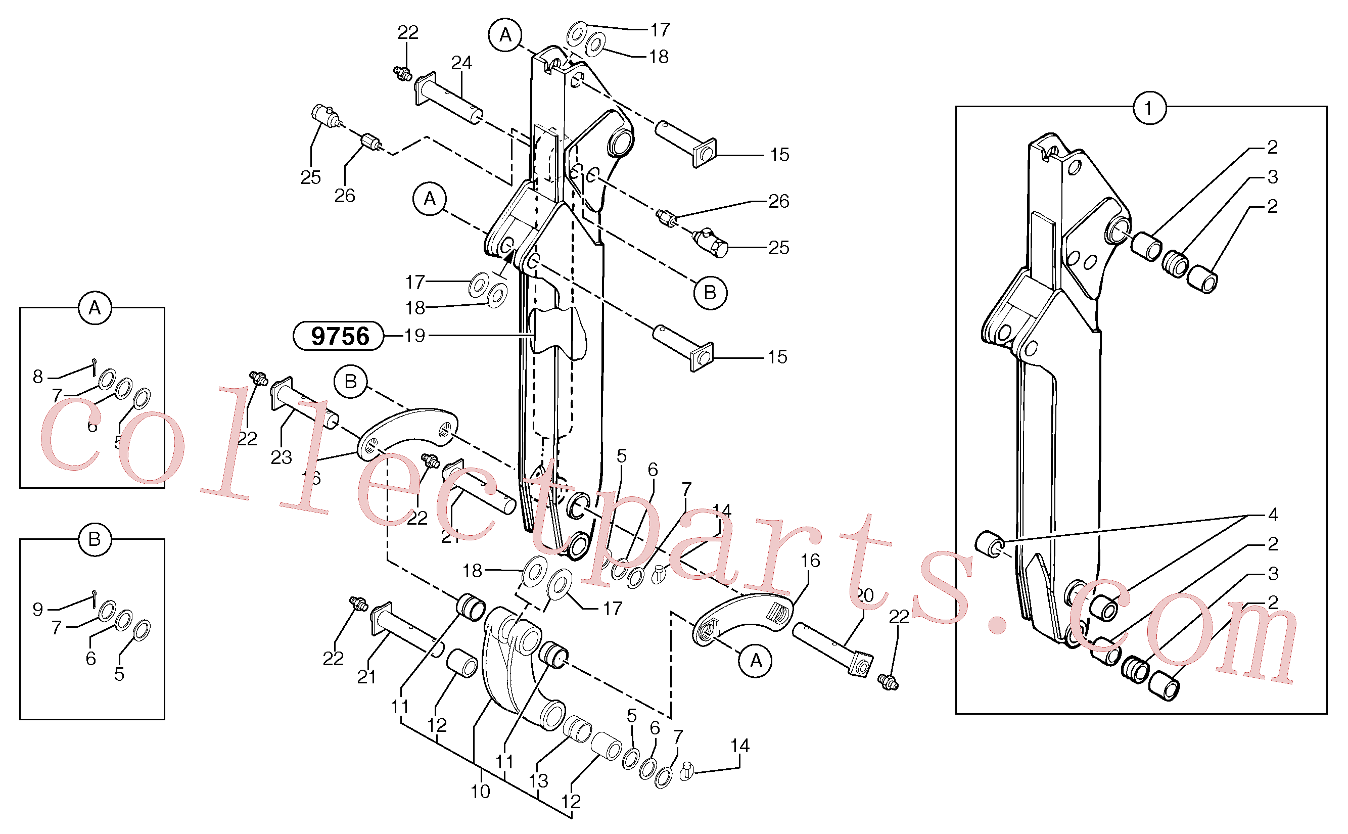 VOE11805808 for Volvo Telescopic arm(975BZ1 assembly)