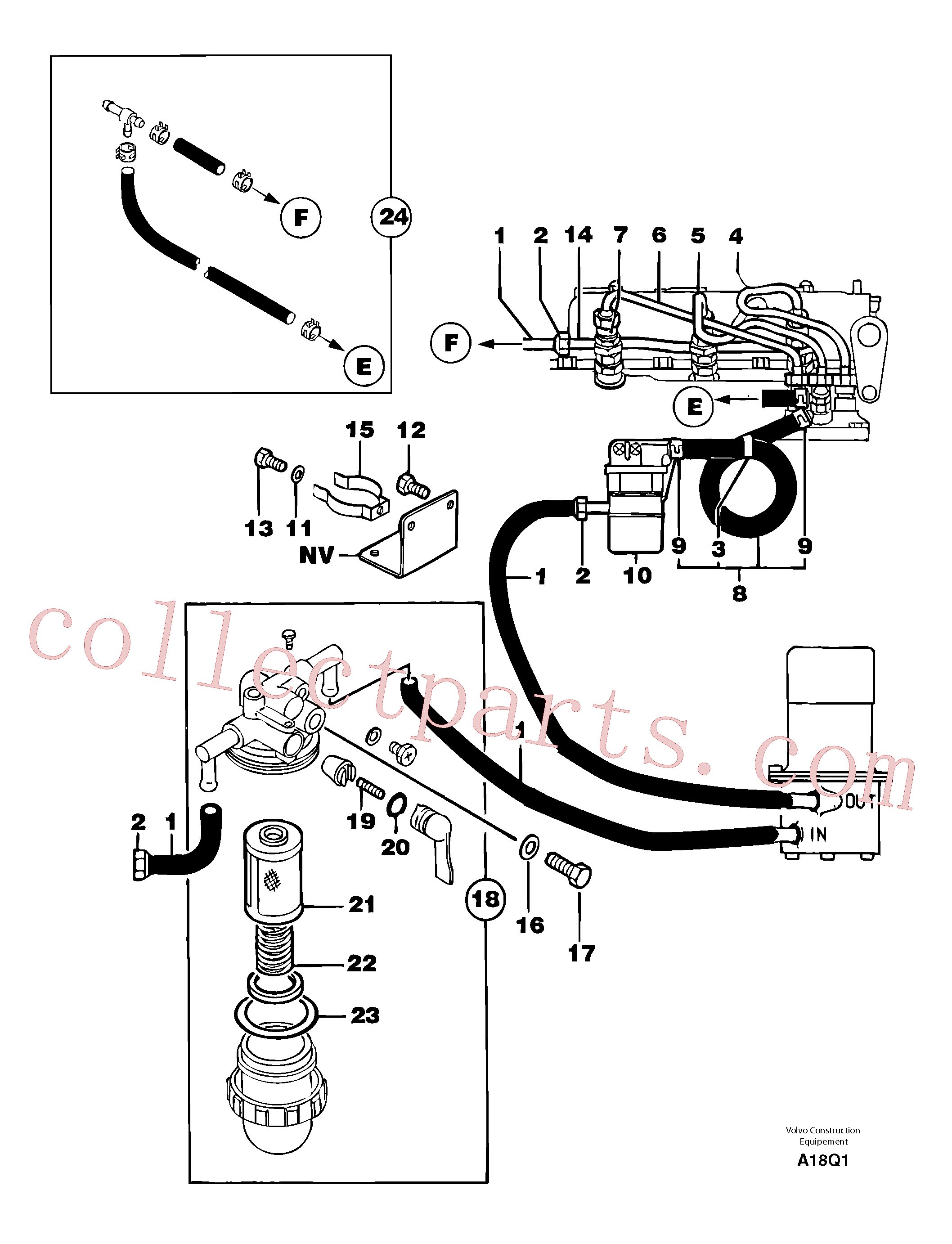 VOE11806174 for Volvo Fuel circuit(A18Q1 assembly)
