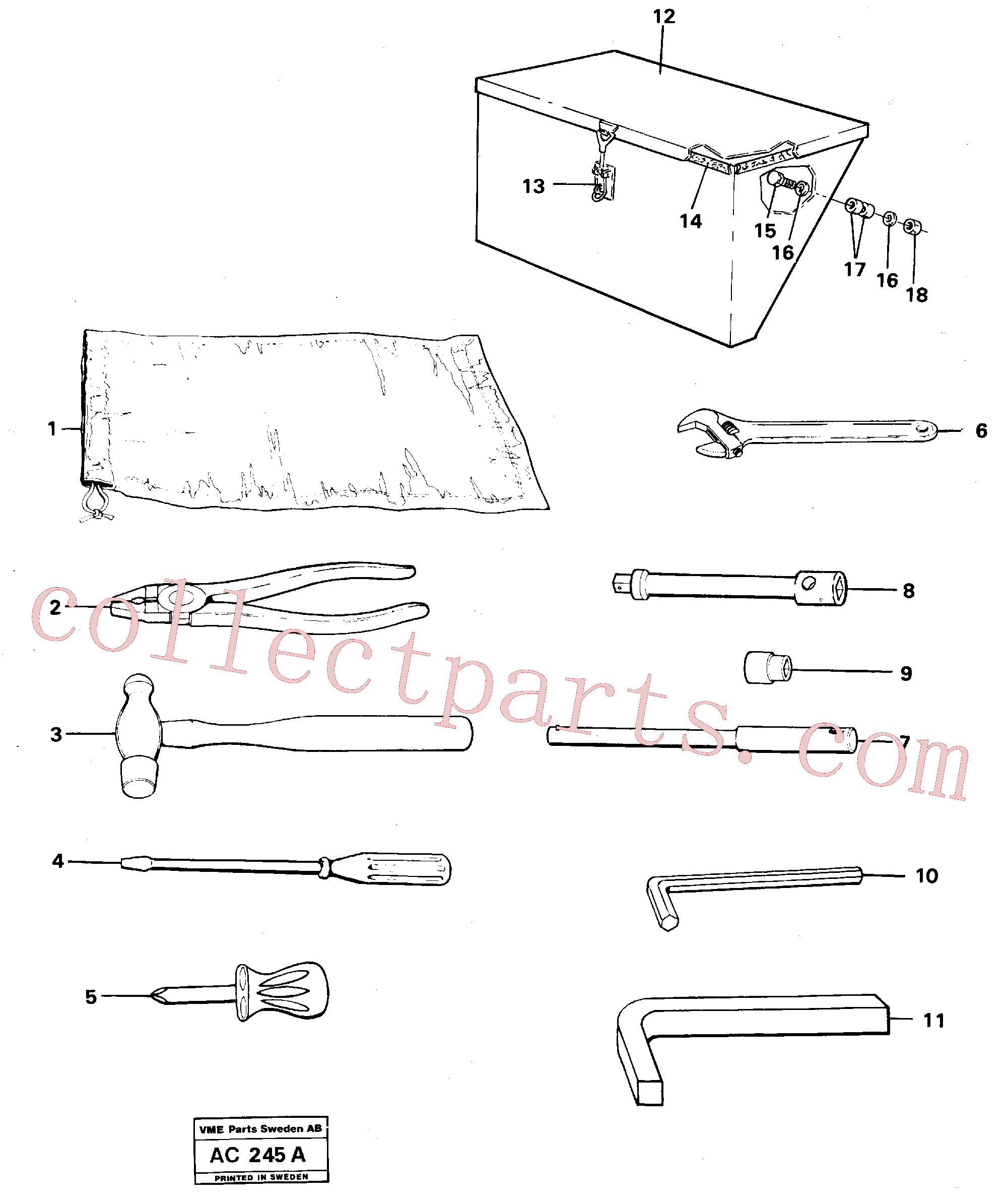VOE13962303 for Volvo Tools(AC245A assembly)