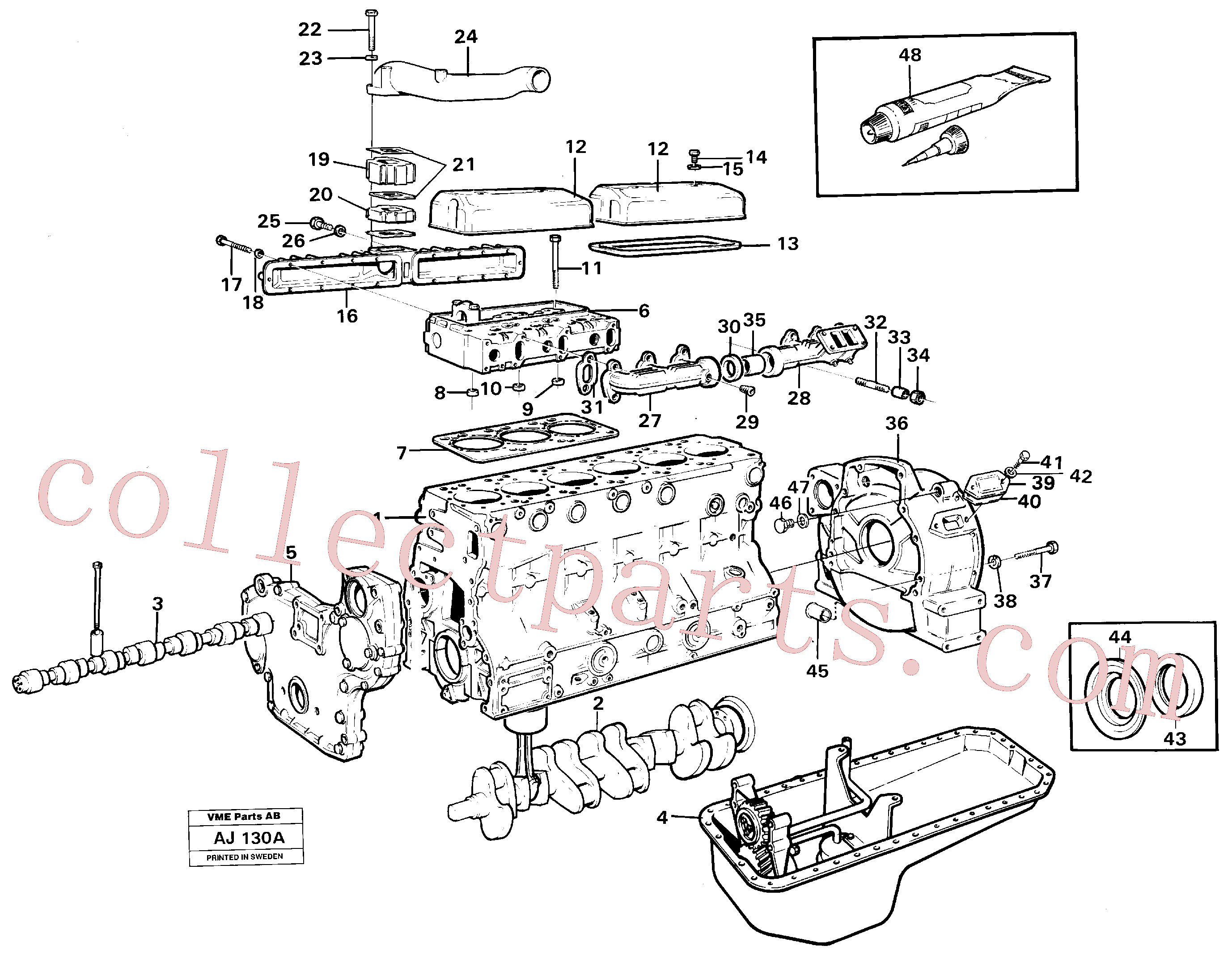 VOE13971002 for Volvo Engine with fitting parts(AJ130A assembly)