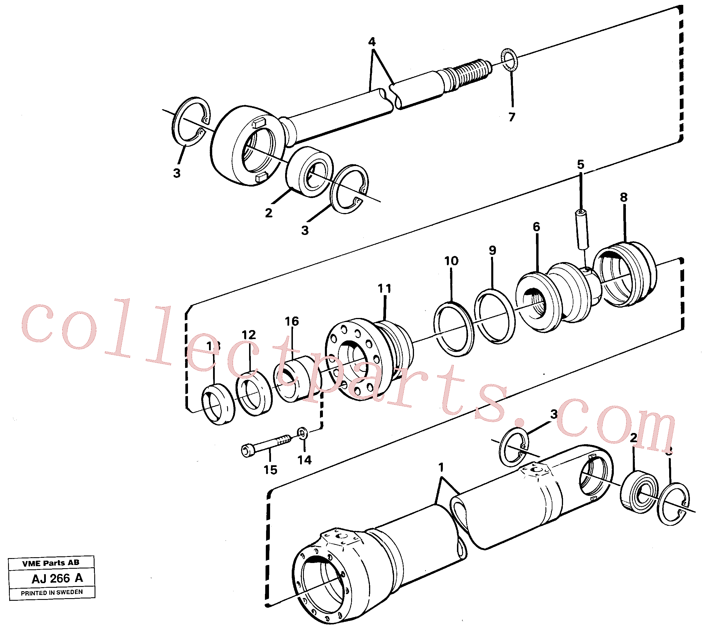 VOE4833023 for Volvo Hydraulic cylinder(AJ266A assembly)