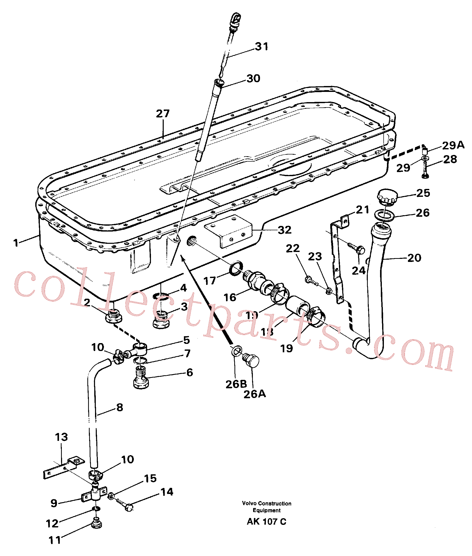 VOE14014864 for Volvo Oil sump(AK107C assembly)