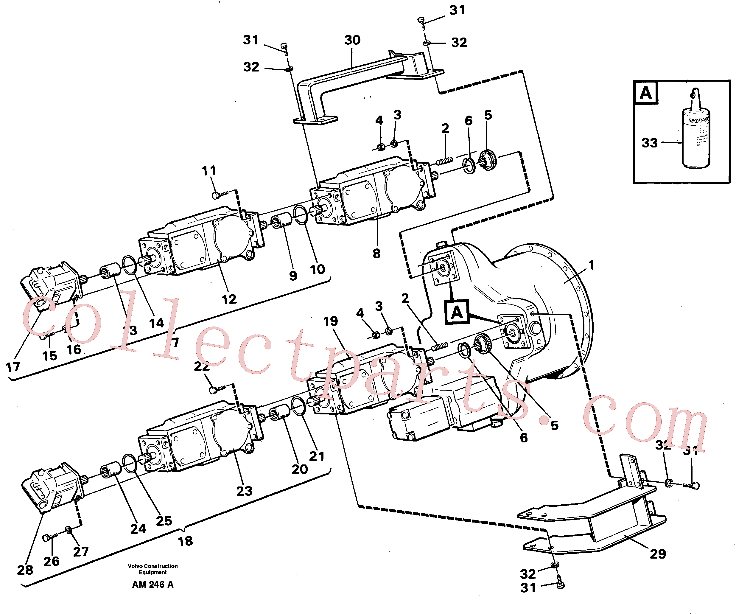 VOE11700112 for Volvo Hydraulic pump, assembly(AM246A assembly)
