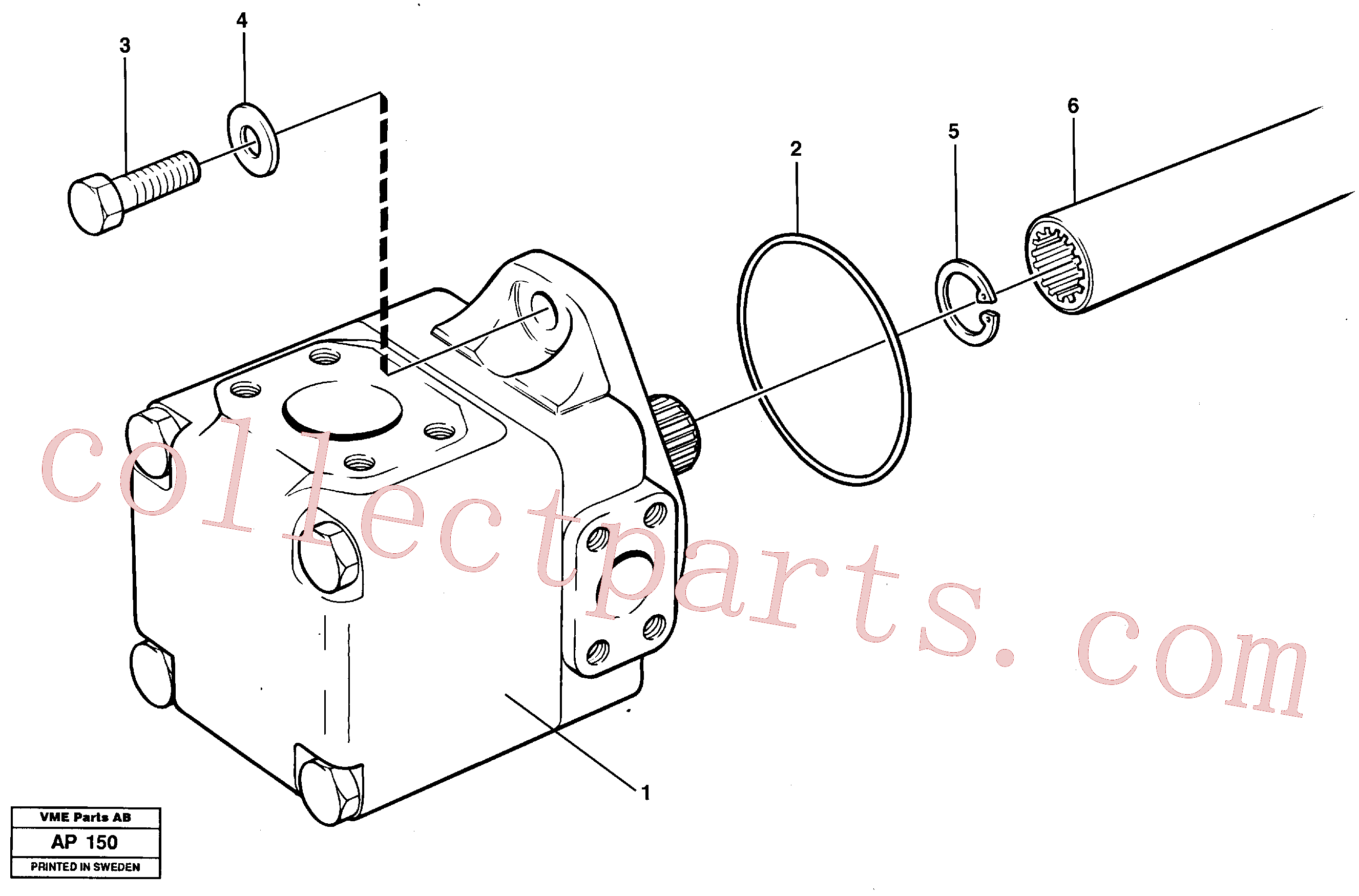 VOE11038380 for Volvo Hydraulic - oil pump Assembly(AP150 assembly)