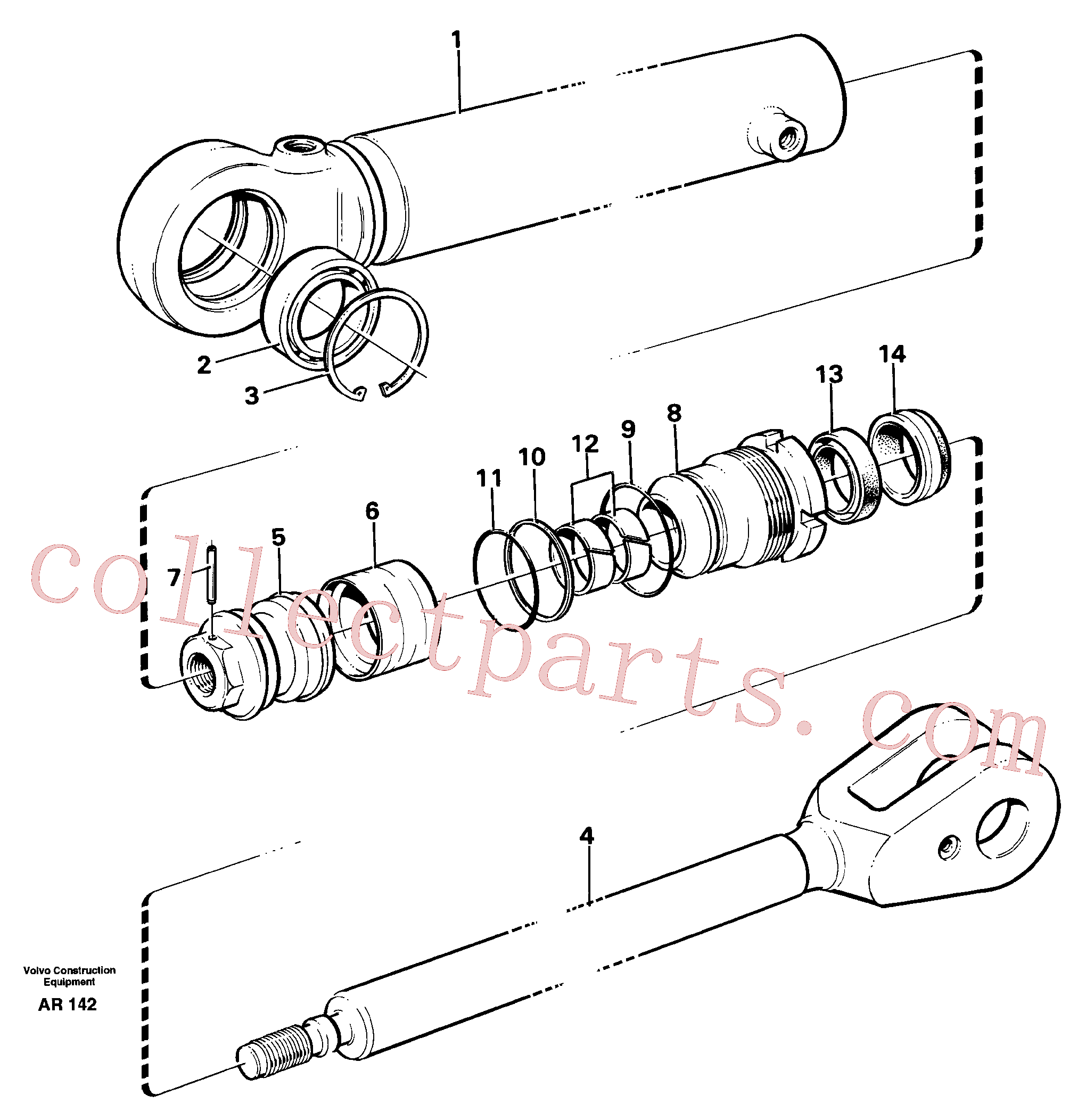 VOE11704196 for Volvo Hydraulic cylinder(AR142 assembly)