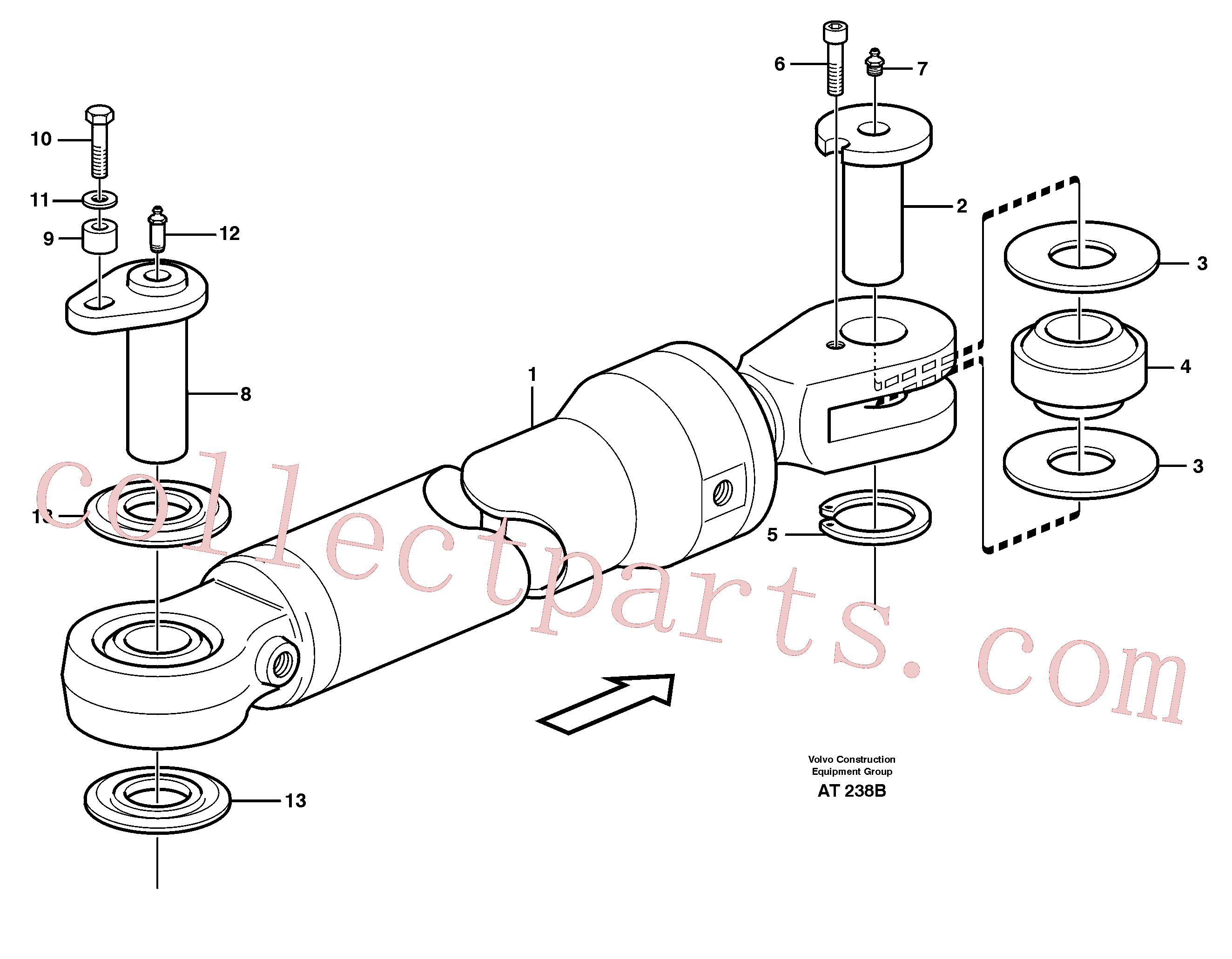 VOE11018444 for Volvo Hydraulic cylinder, assembly(AT238B assembly)
