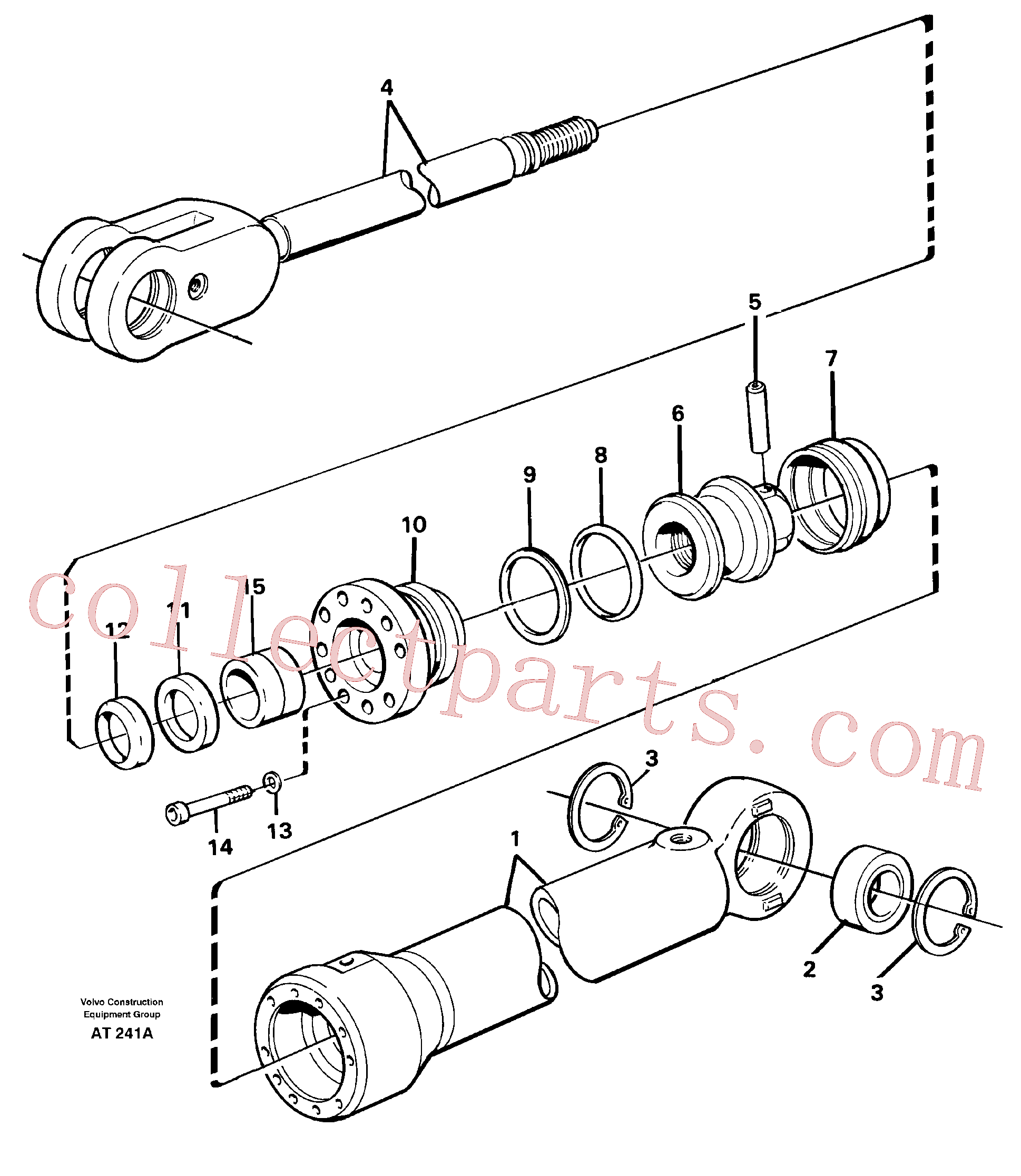 VOE11704196 for Volvo Hydraulic cylinder(AT241A assembly)