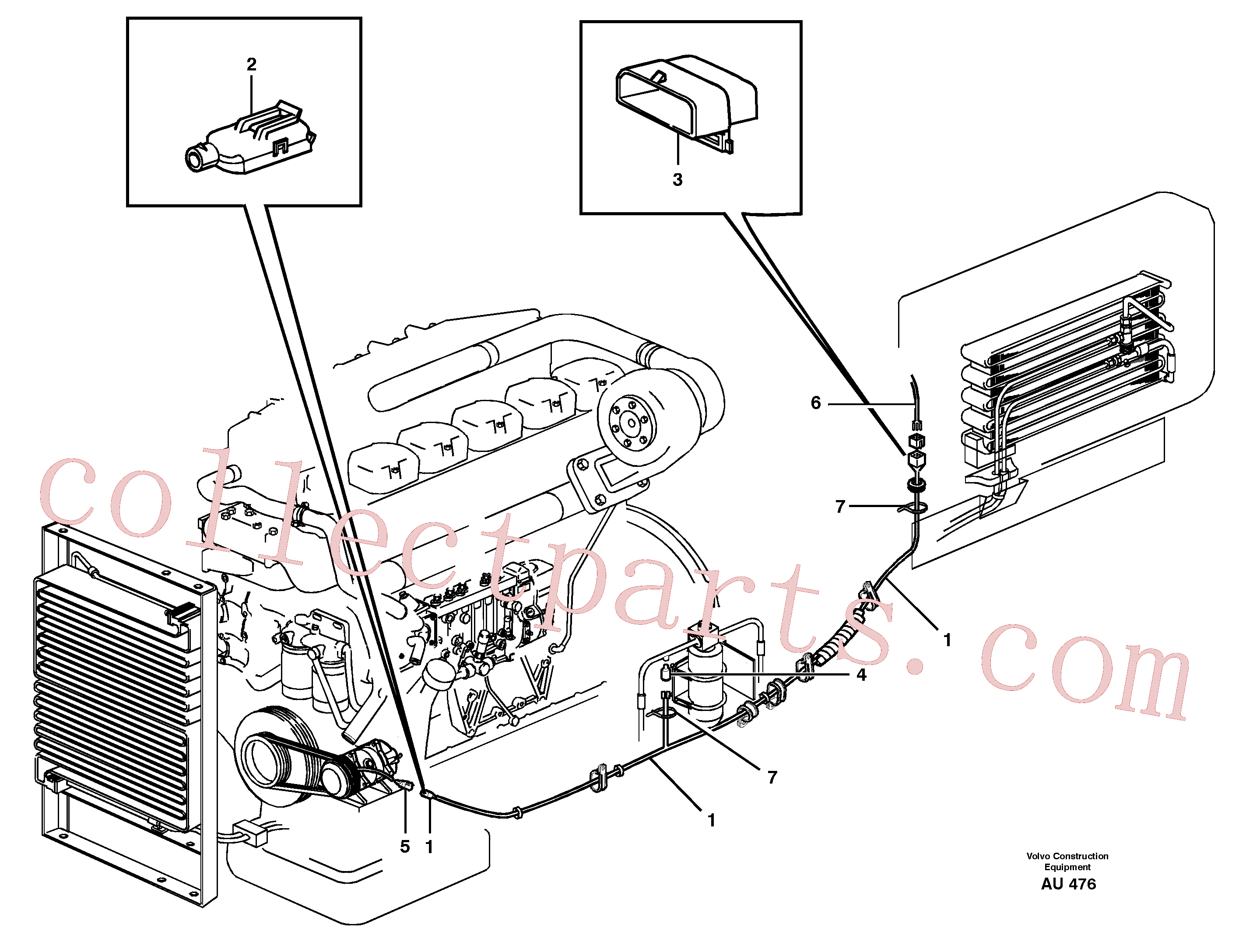 VOE1259829 for Volvo Cable harness, air conditioning.(AU476 assembly)