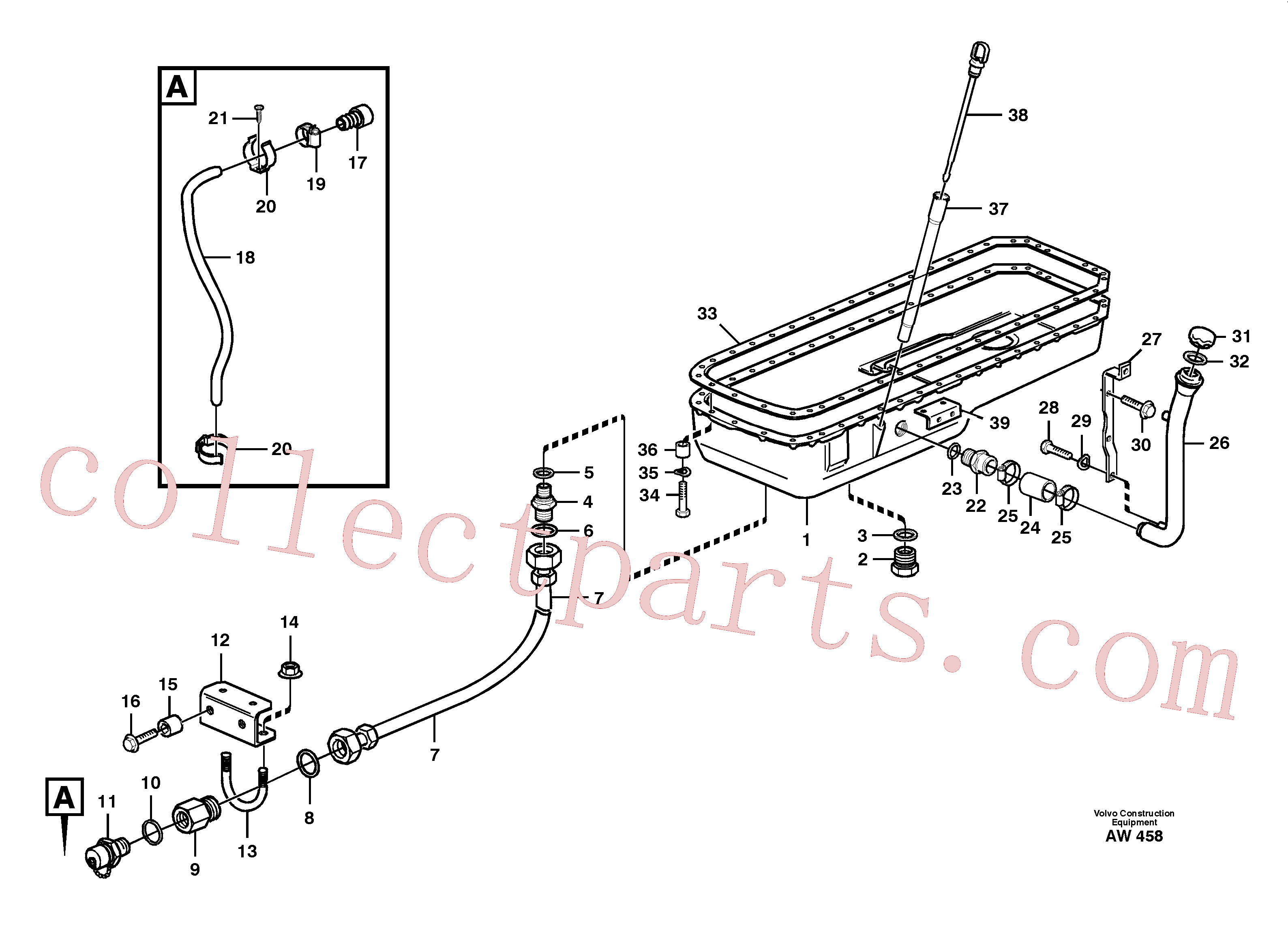 VOE14014864 for Volvo Oil sump(AW458 assembly)