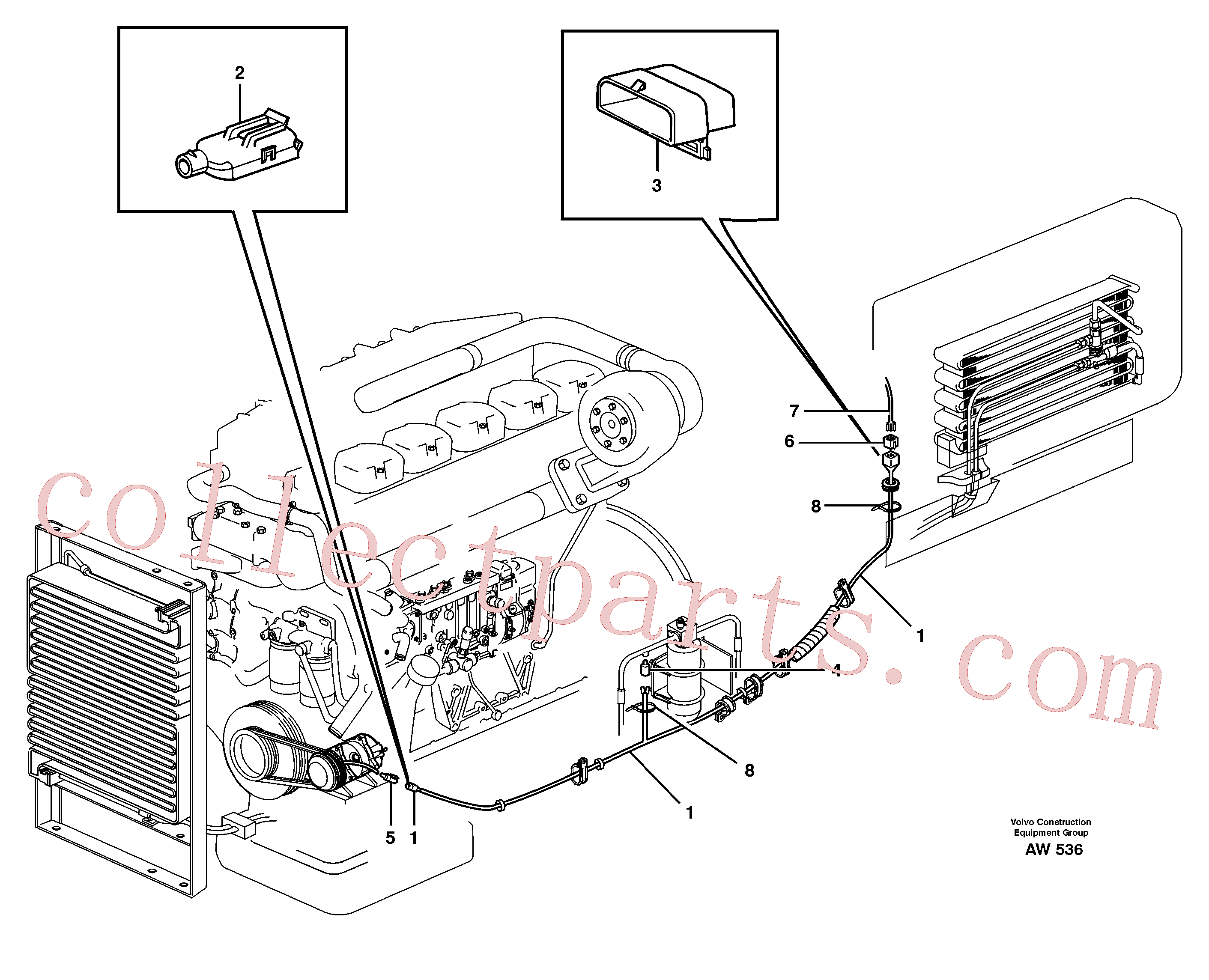 VOE1259829 for Volvo Cable harness, air conditioning.(AW536 assembly)