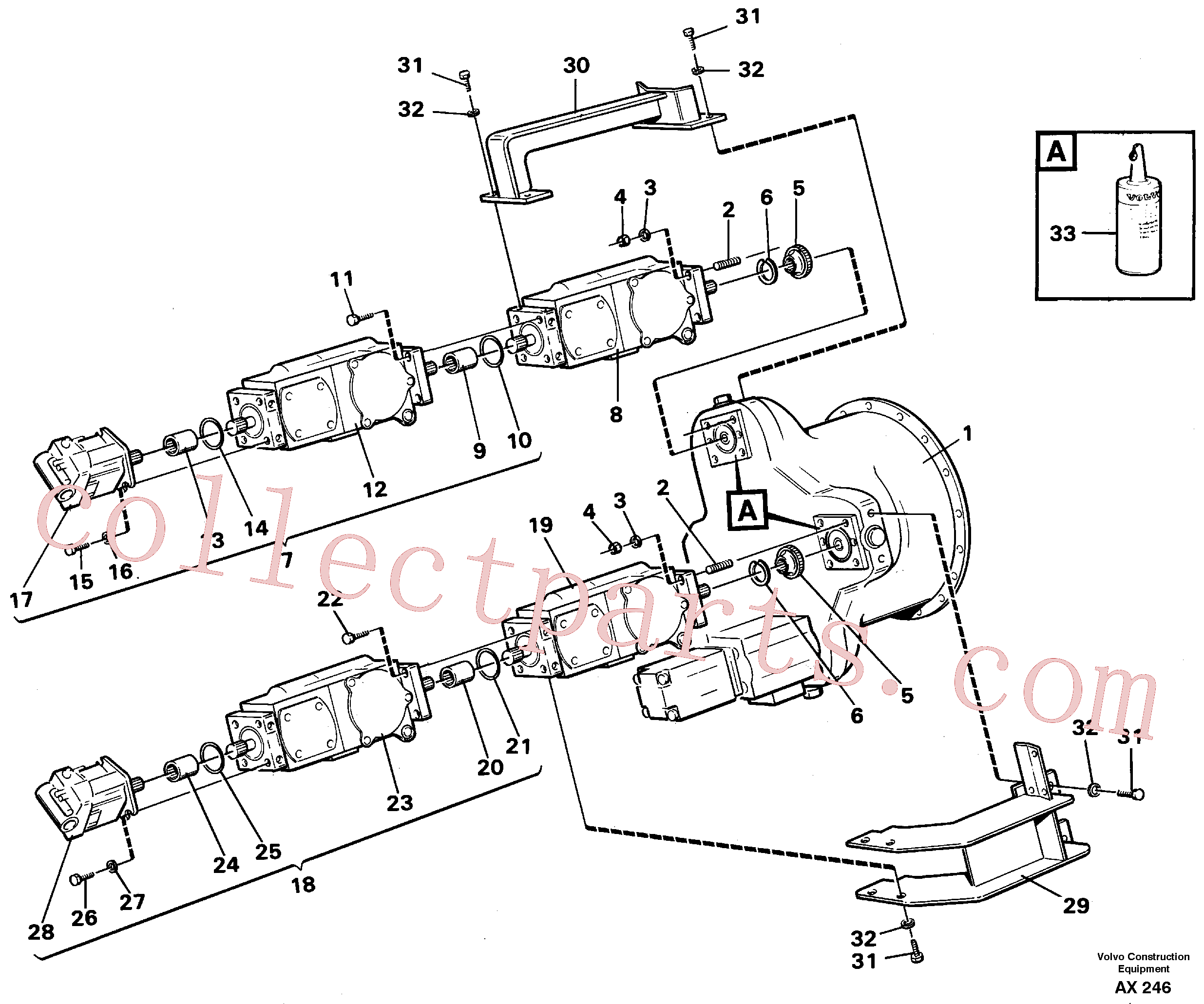 VOE11700112 for Volvo Hydraulic pump, assembly(AX246 assembly)