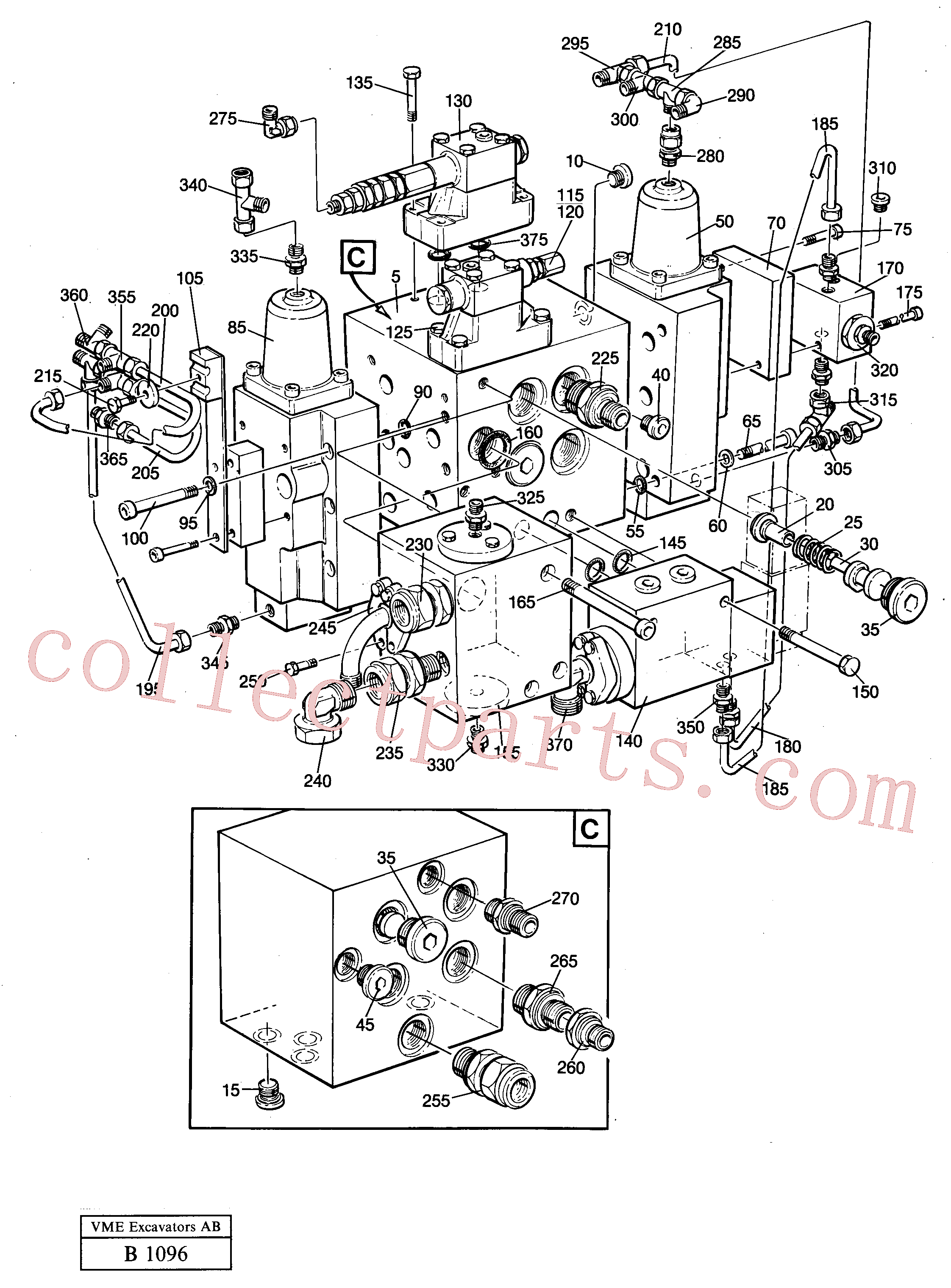 VOE14049795 for Volvo Slew valve assembly(B1096 assembly)