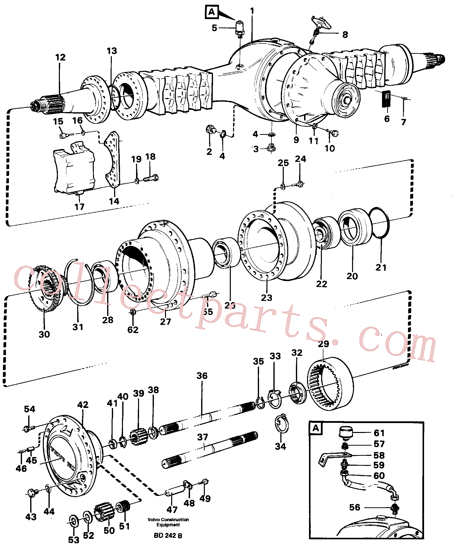 VOE11034156 for Volvo Planet shaft(BD242B assembly)
