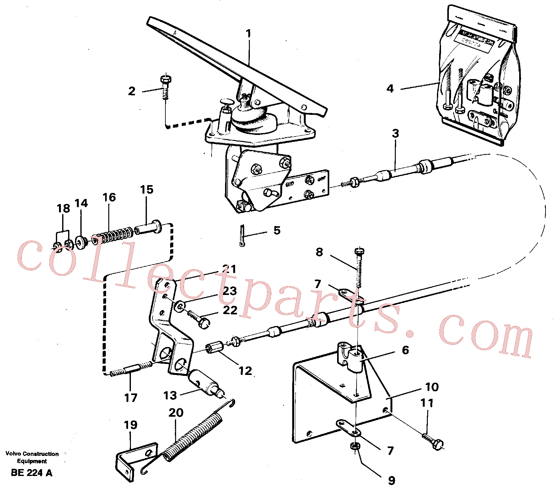 VOE940133 for Volvo Governor controls.(BE224A assembly)