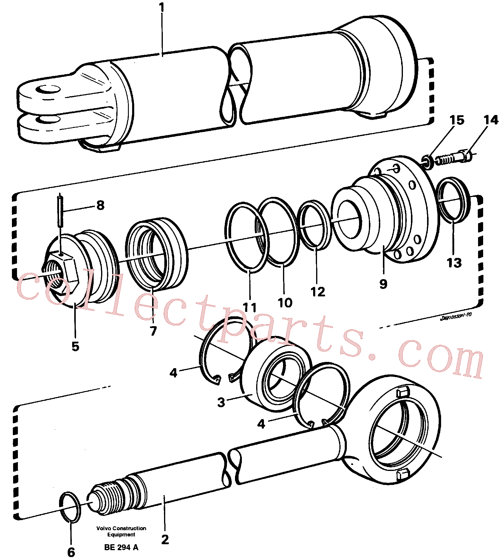 VOE960178 for Volvo Hydraulic cylinder(BE294A assembly)