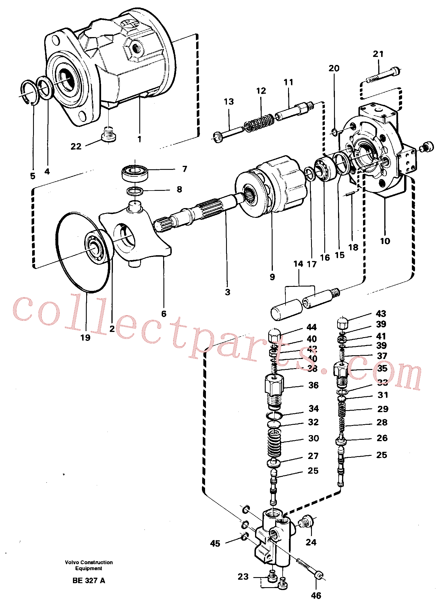 VOE11992751 for Volvo Hydraulic pump(BE327A assembly)
