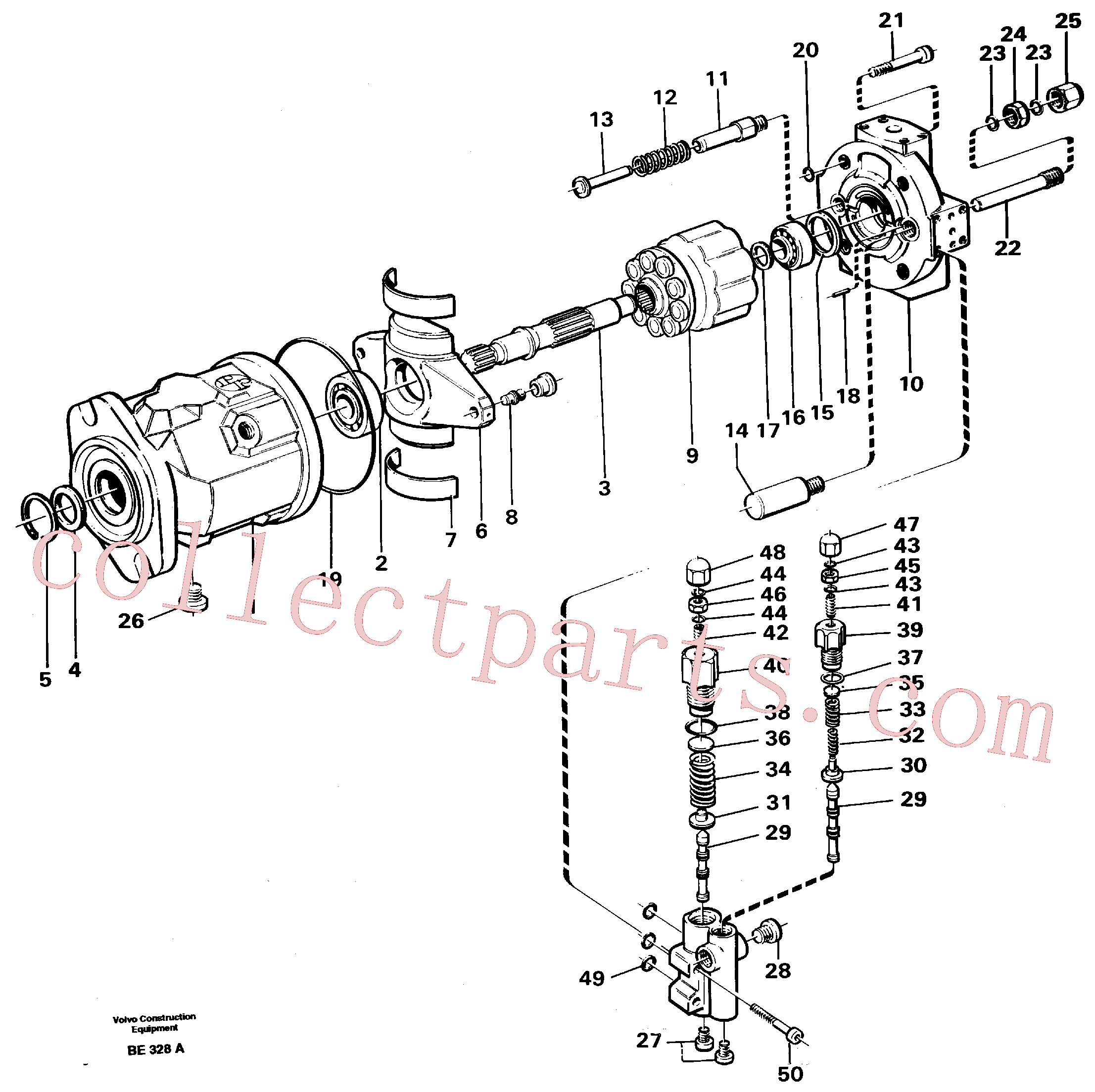VOE11992751 for Volvo Hydraulic pump(BE328A assembly)